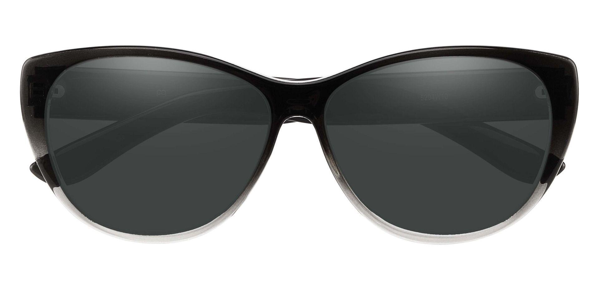 Lynn Cat-Eye Prescription Sunglasses - Gray Frame With Gray Lenses