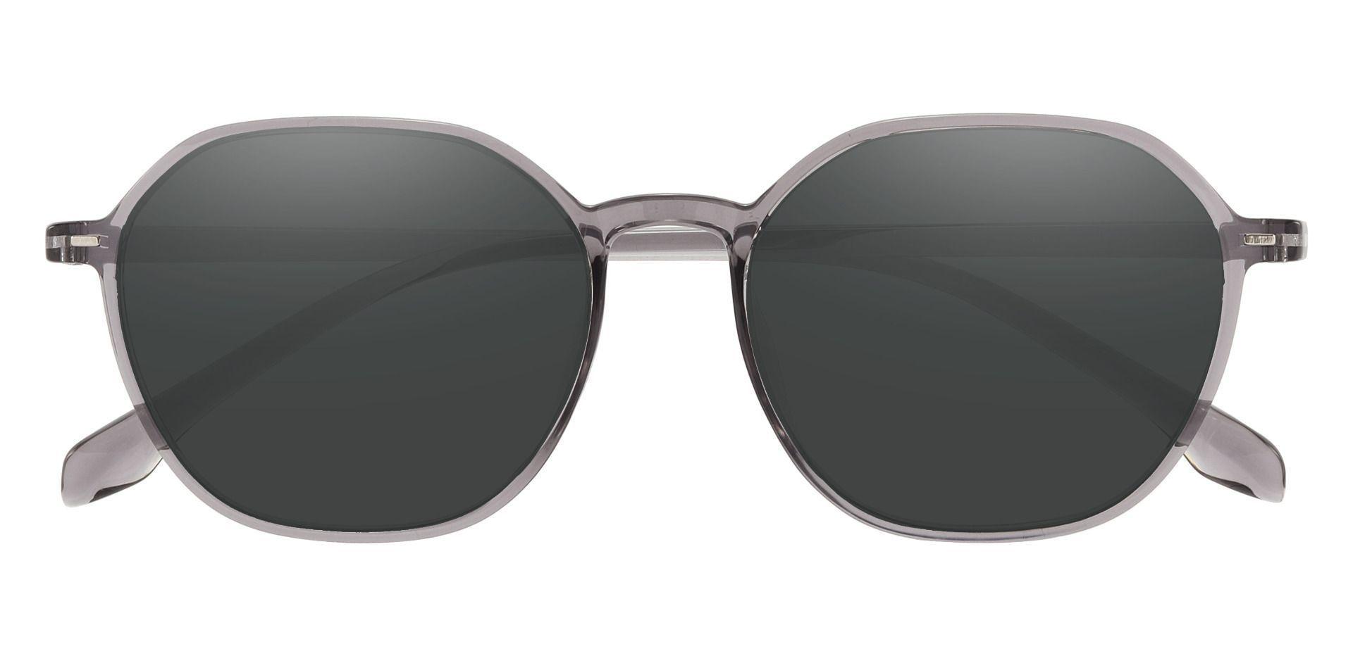 Detroit Geometric Prescription Sunglasses - Gray Frame With Gray Lenses