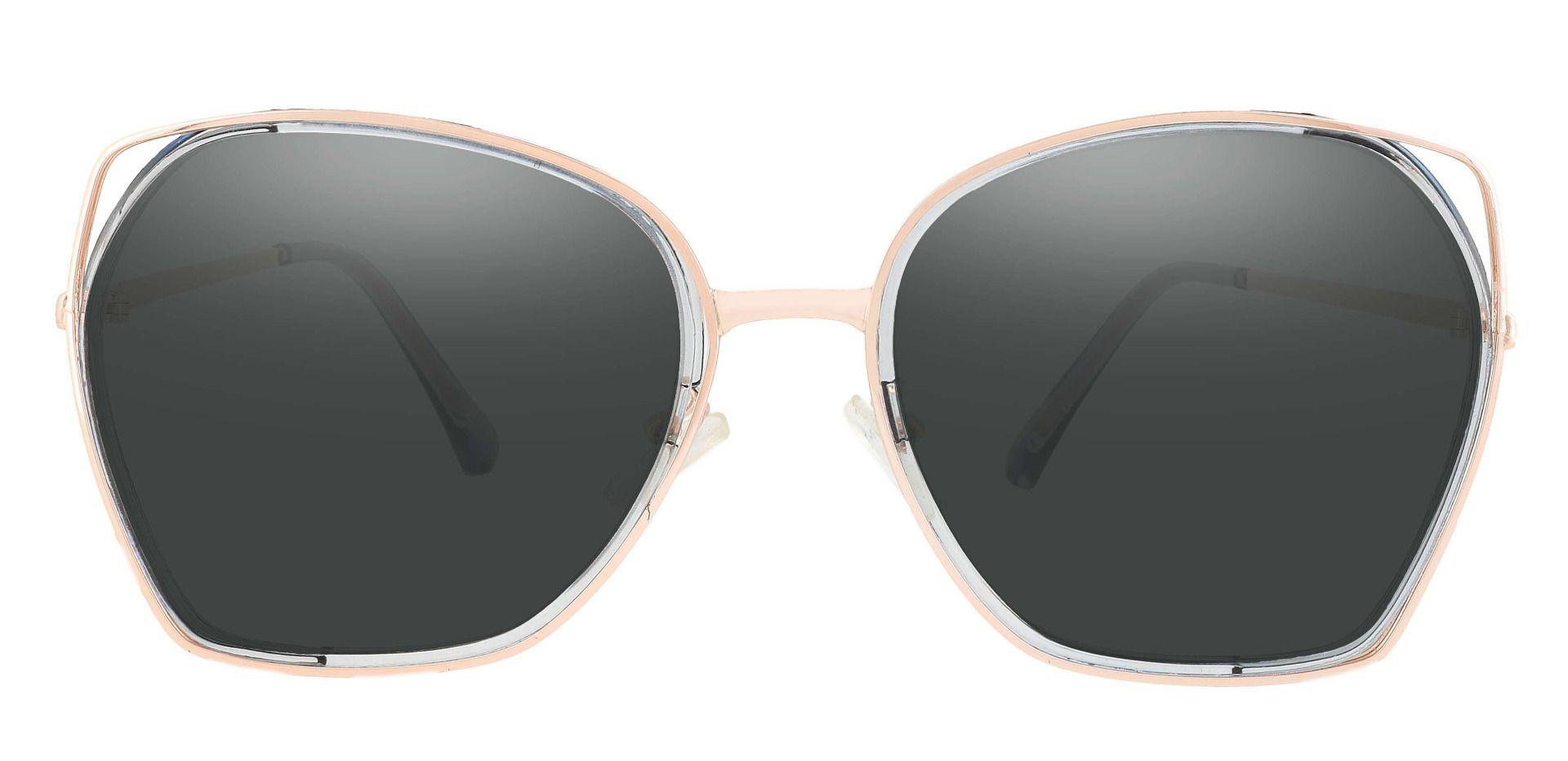 Tabby Geometric Reading Sunglasses - Blue Frame With Gray Lenses