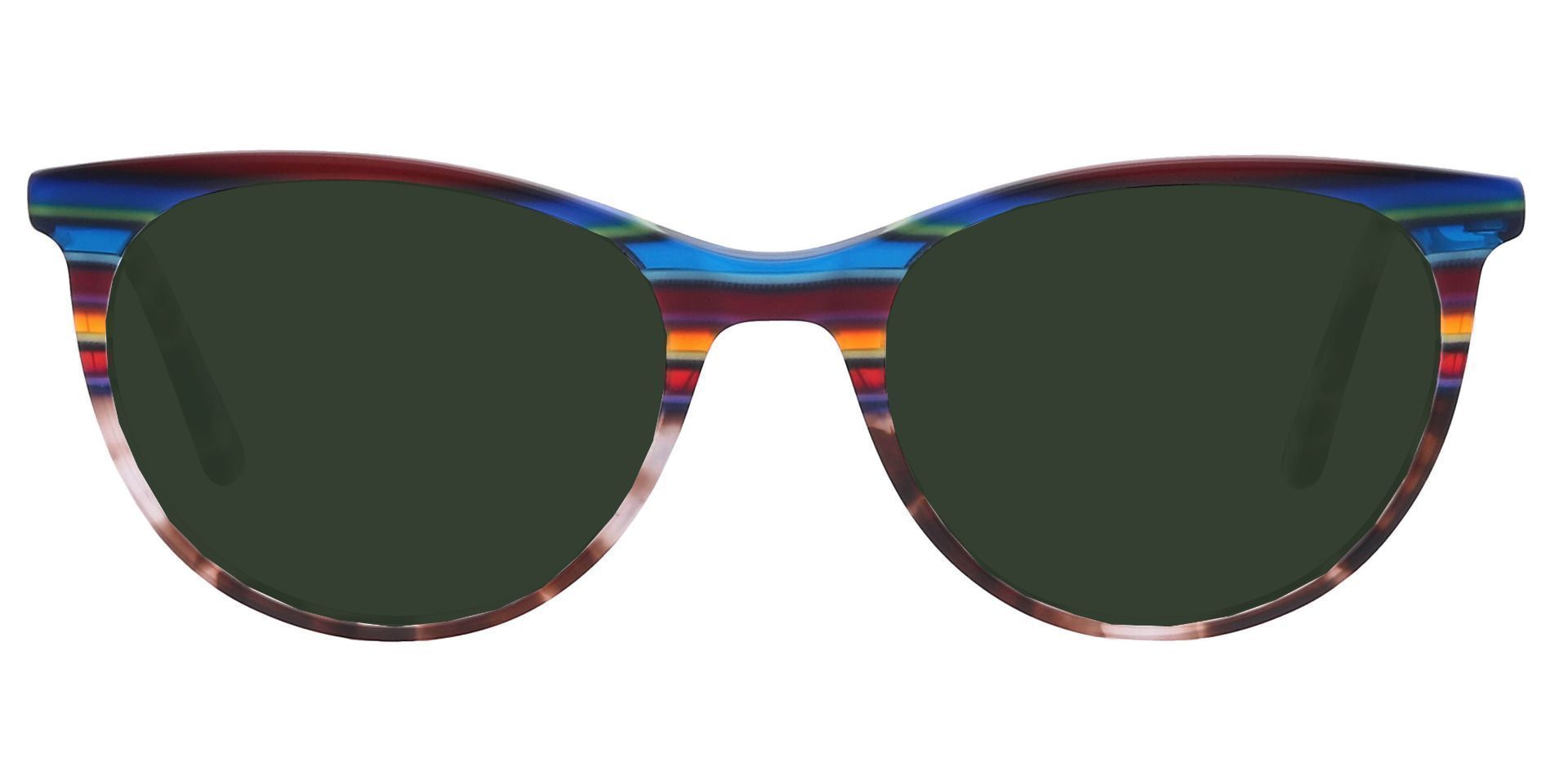 Patagonia Oval Prescription Sunglasses - Blue Frame With Green Lenses