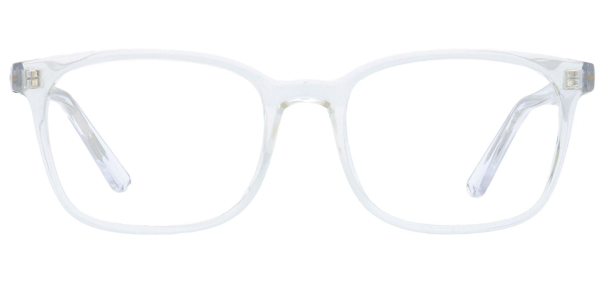 Windsor Rectangle Lined Bifocal Glasses - Crystal