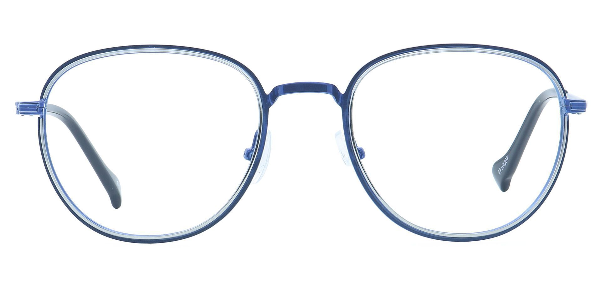 Foster Oval Blue Light Blocking Glasses - Blue