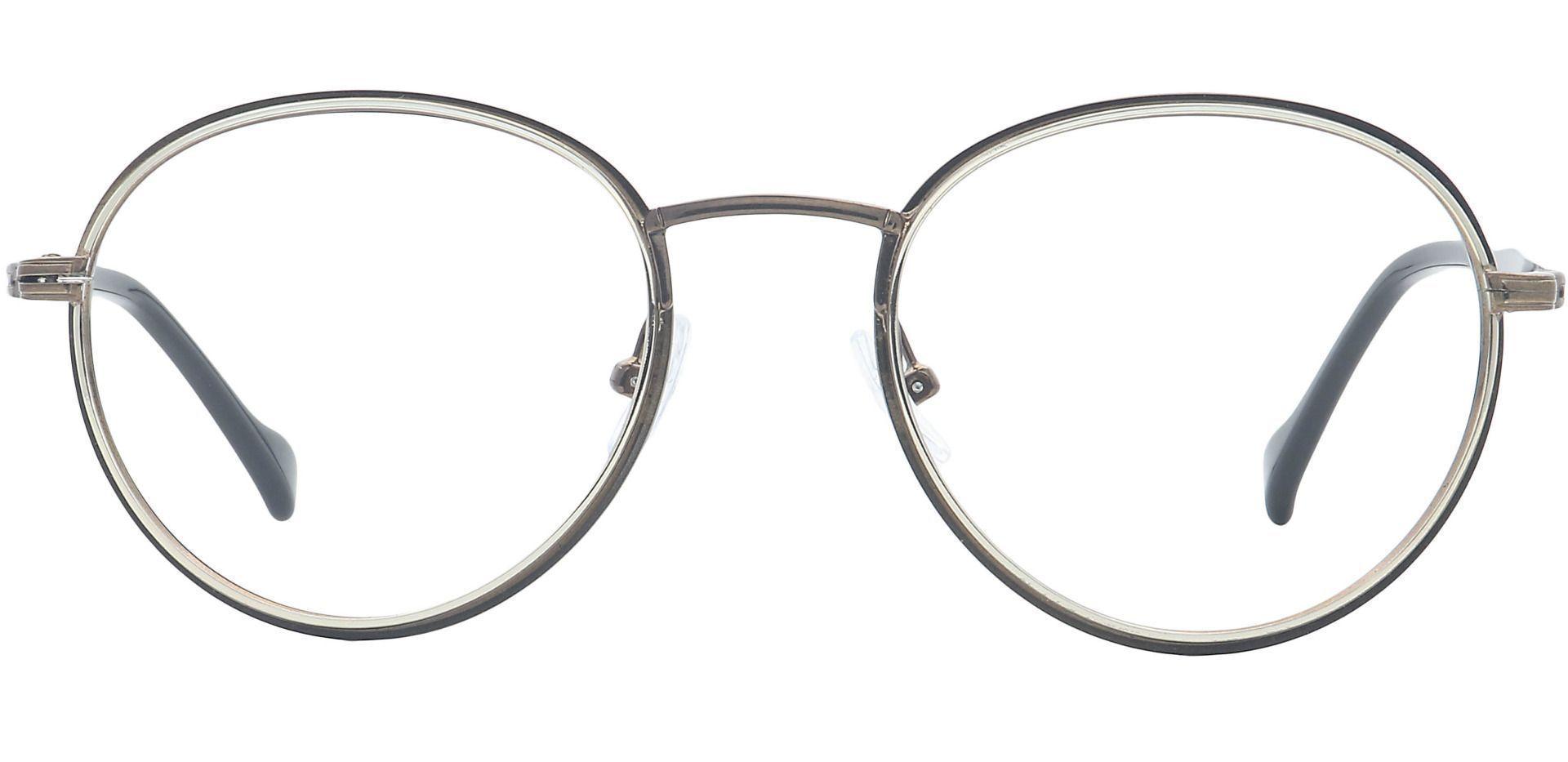 Page Oval Prescription Glasses - Brown
