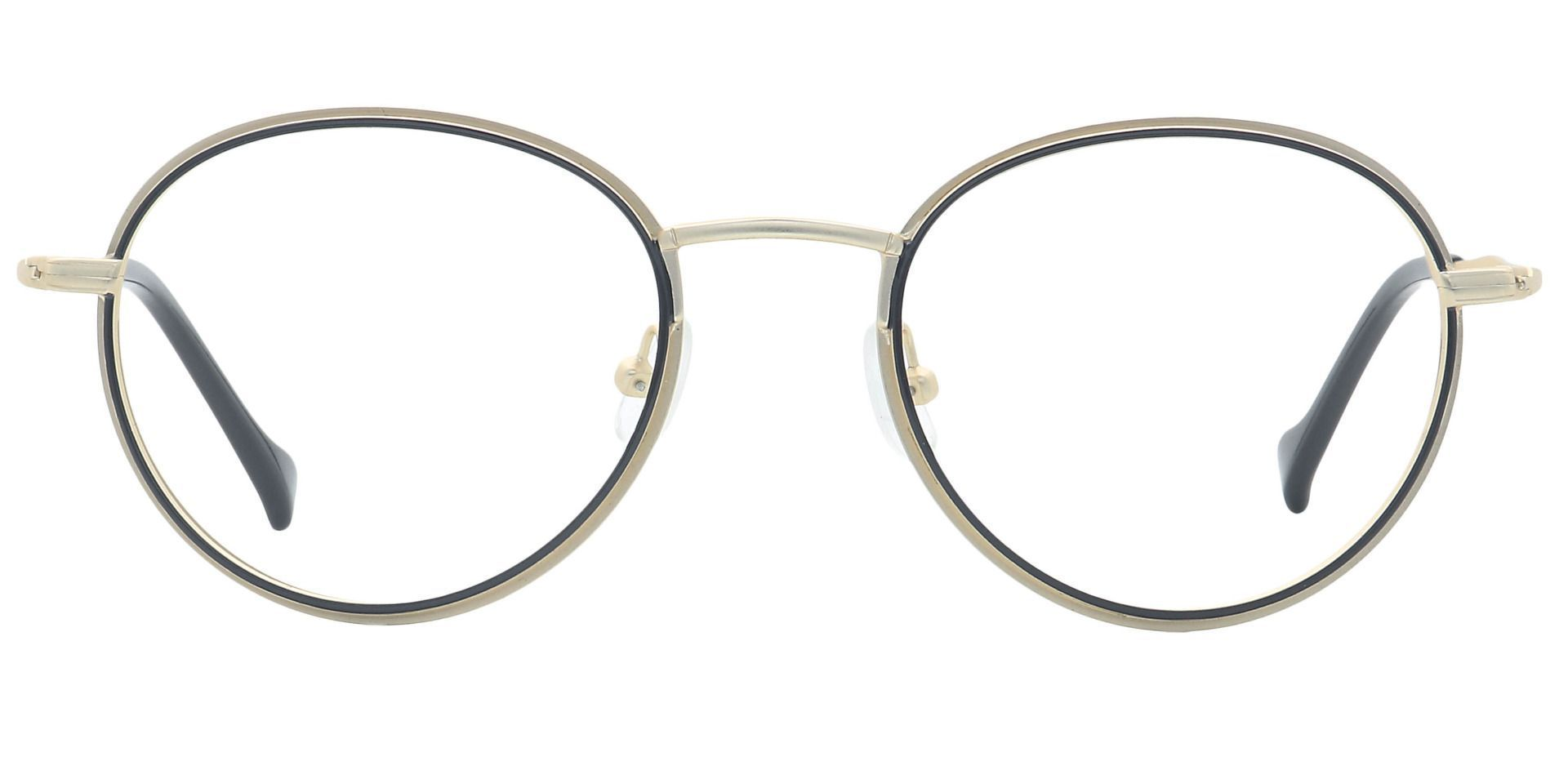 Page Oval Progressive Glasses - Yellow