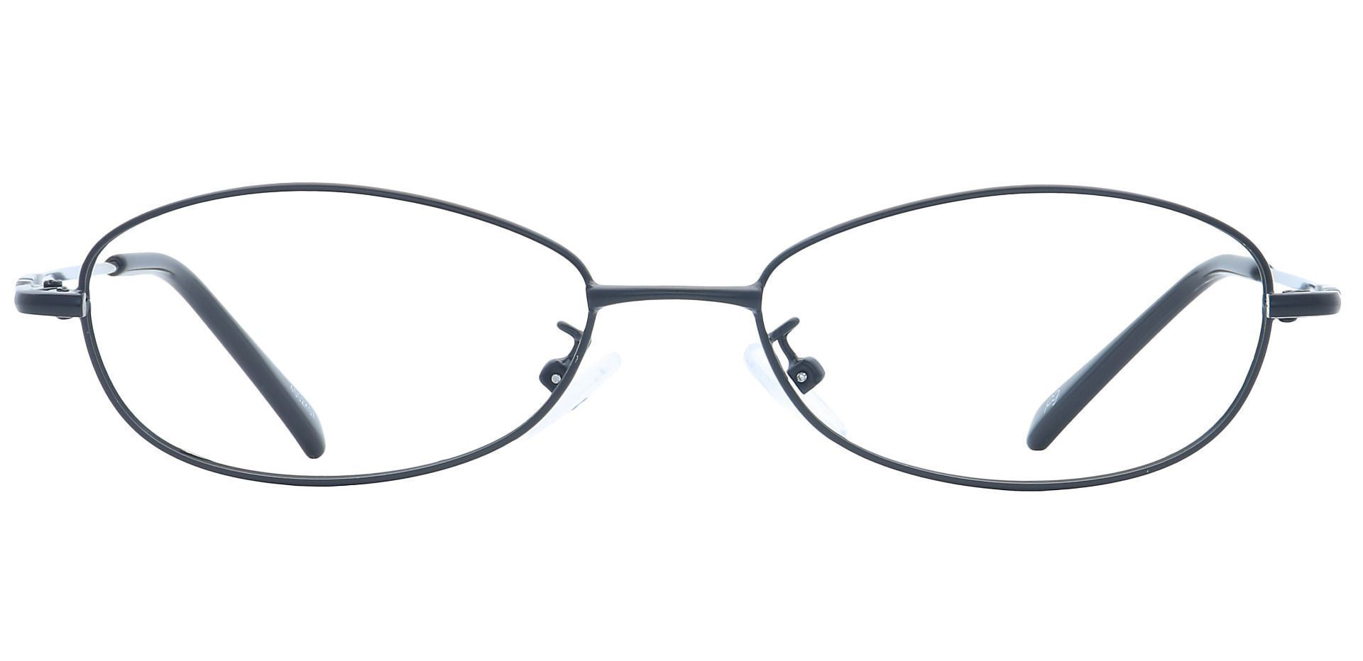 Coronation Oval Blue Light Blocking Glasses - Black