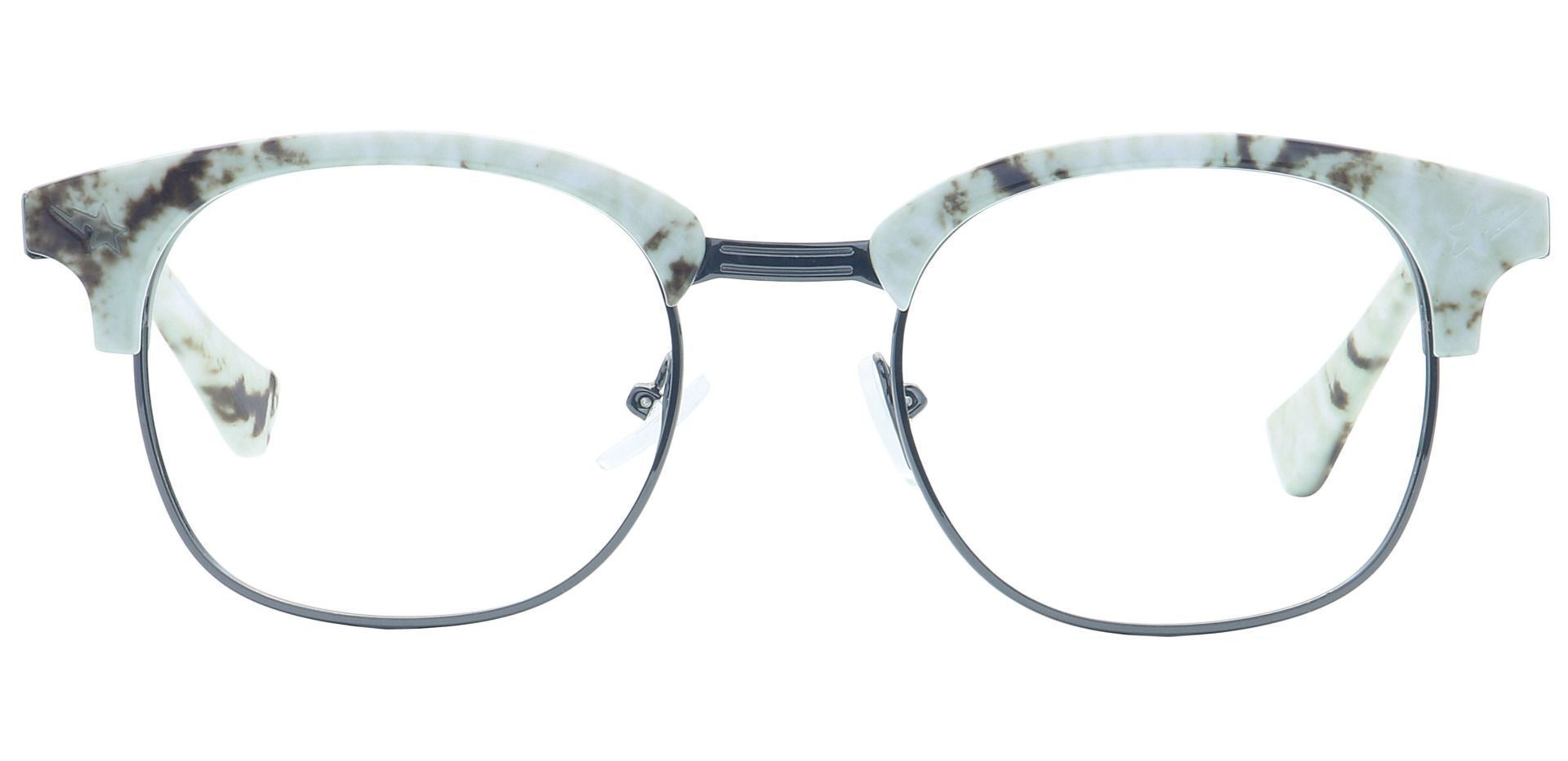 Neptune Browline Lined Bifocal Glasses - White