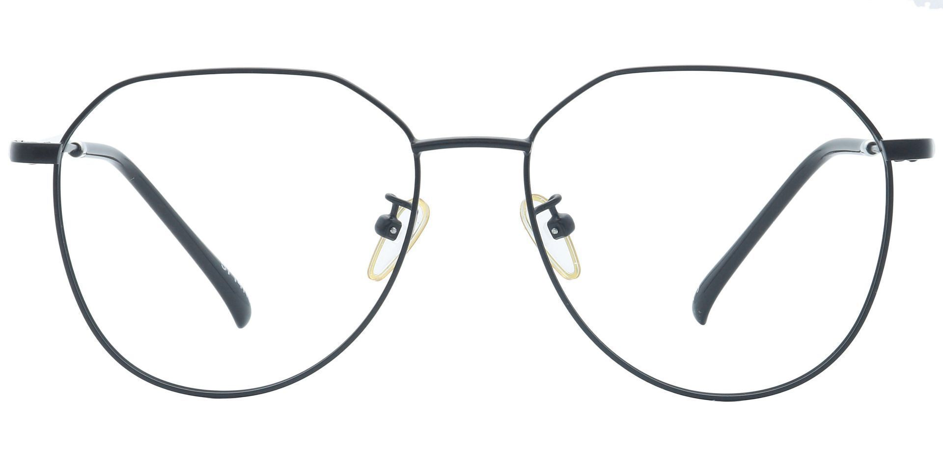 Geo Aviator Single Vision Glasses - Black