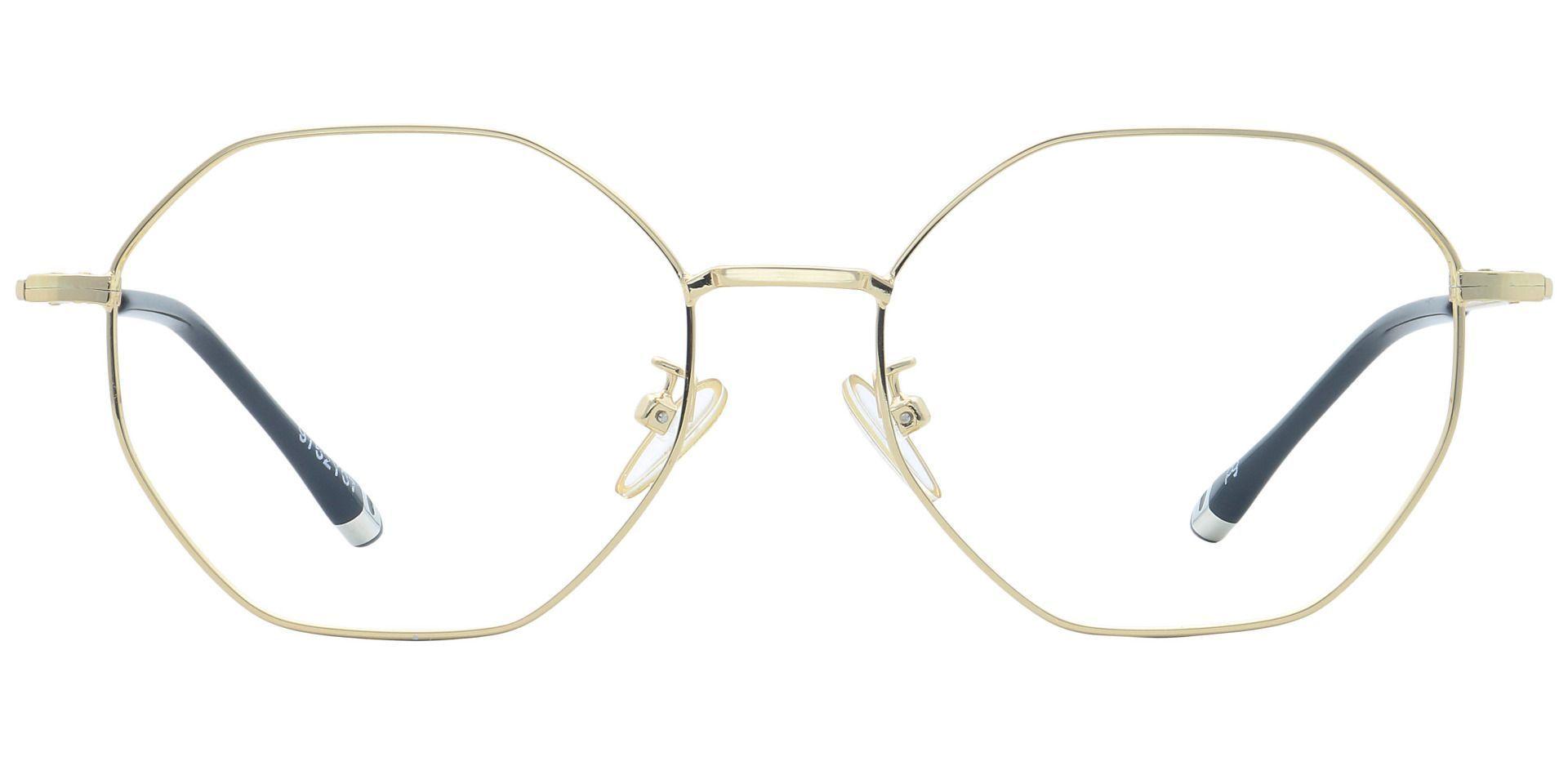 Met Round Prescription Glasses - Yellow