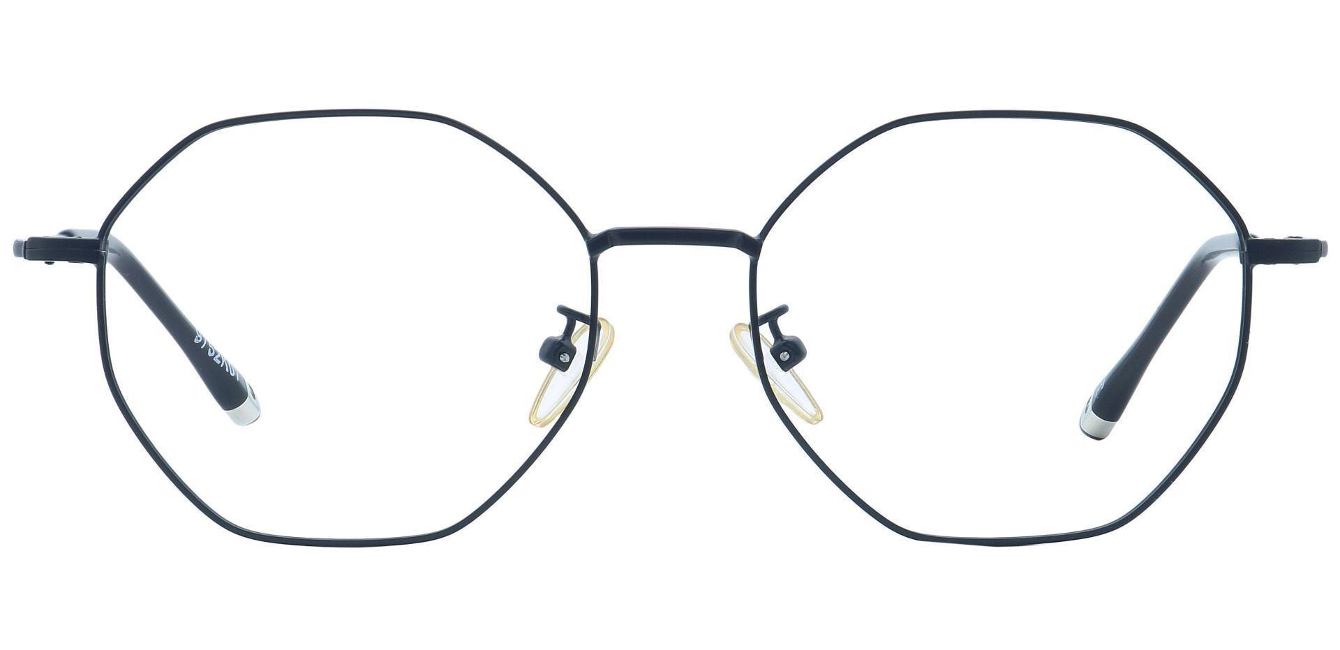 Met Round Progressive Glasses - Black
