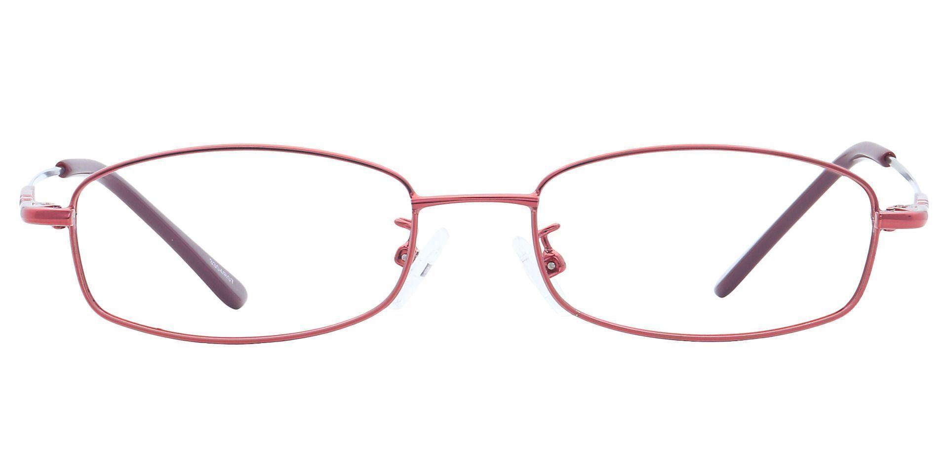 Daisy Rectangle Eyeglasses Frame - Red