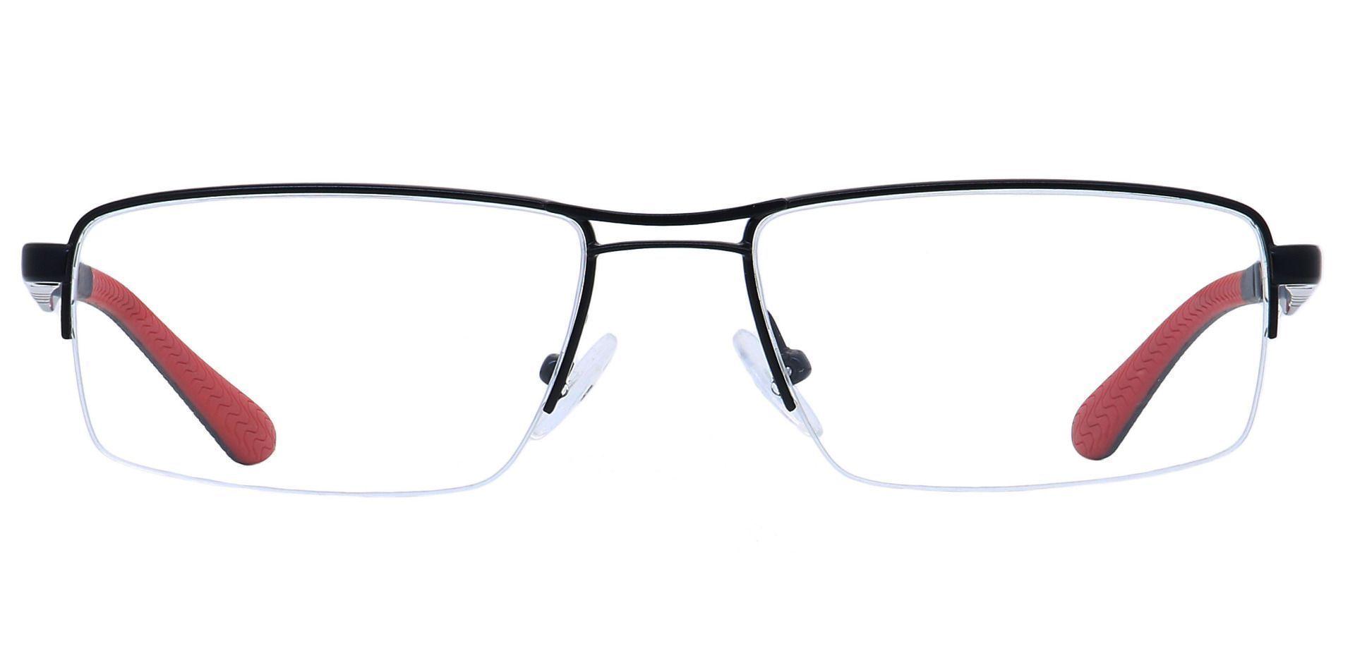 Willow Rectangle Prescription Glasses - Black