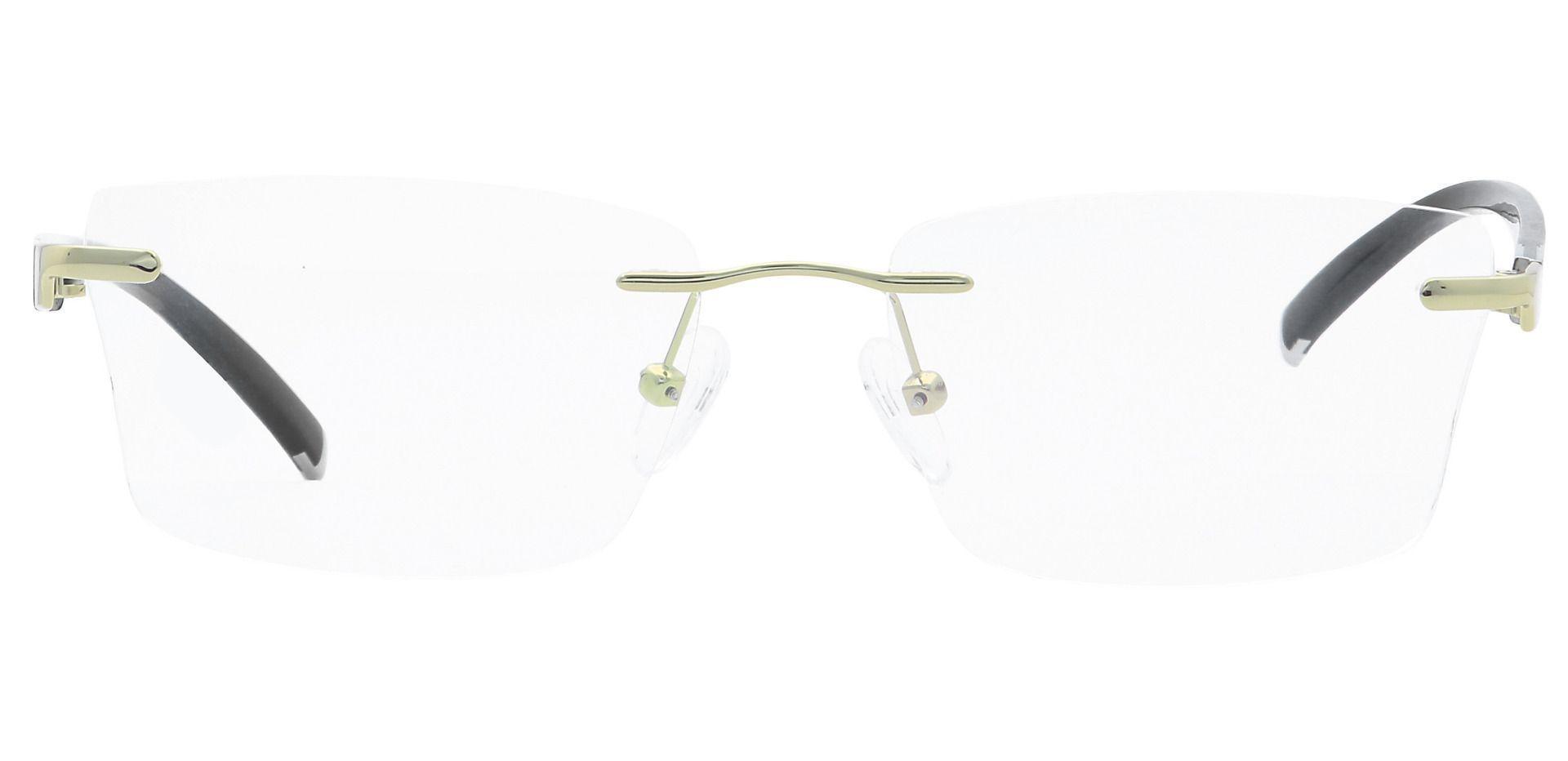 Cleo Rimless Blue Light Blocking Glasses - Yellow