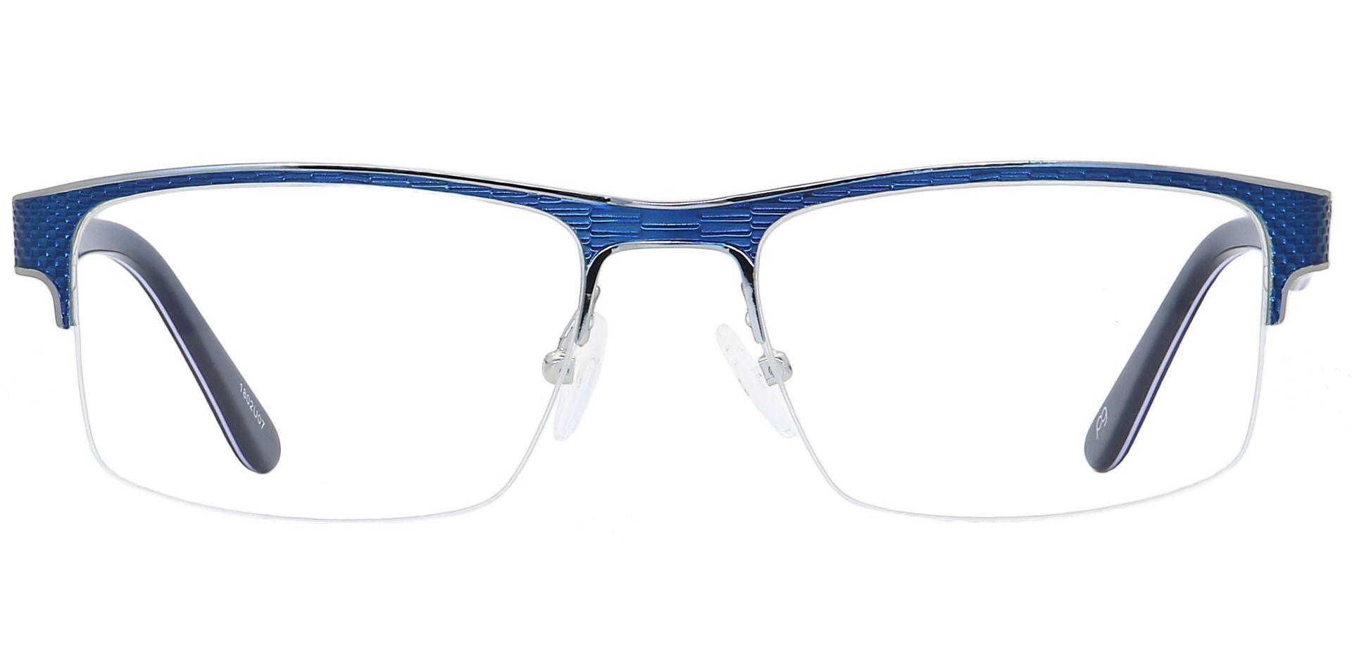Executive Square Prescription Glasses - Blue