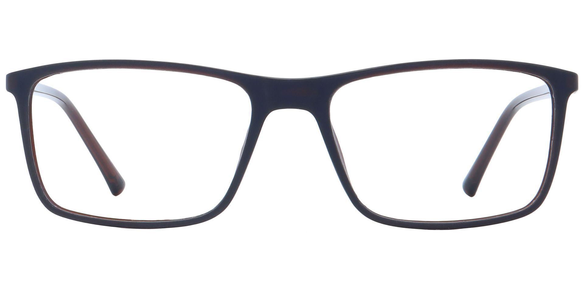 Quest Rectangle Prescription Glasses - Brown