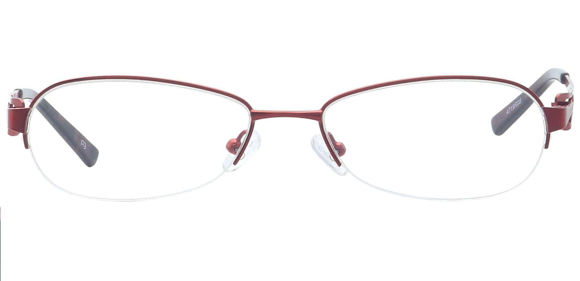 Marsha Oval Eyeglasses Frame - Red