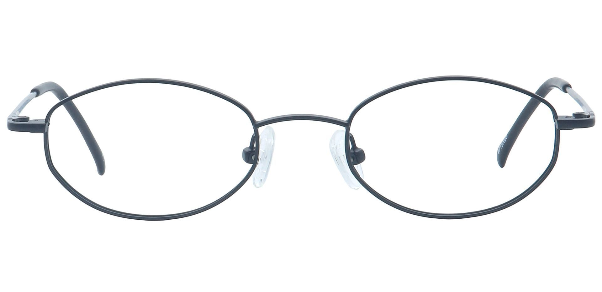 Bailey Oval Blue Light Blocking Glasses - Black