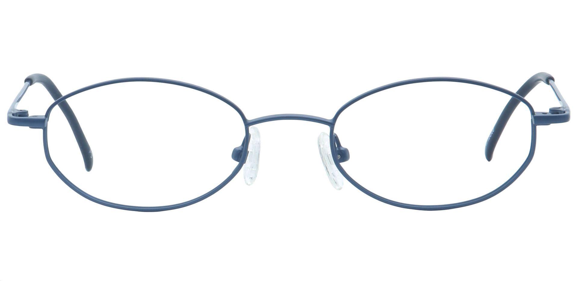 Bailey Oval Eyeglasses Frame - Blue