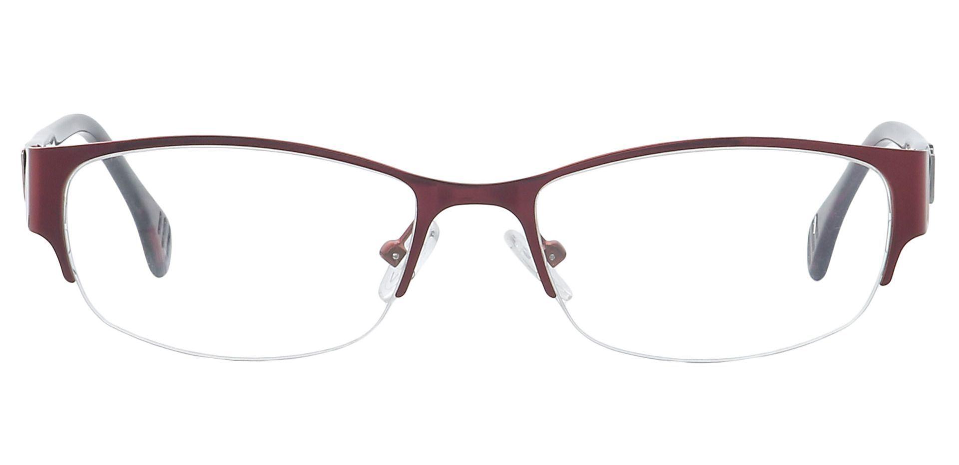 Layla Rectangle Eyeglasses Frame - Red