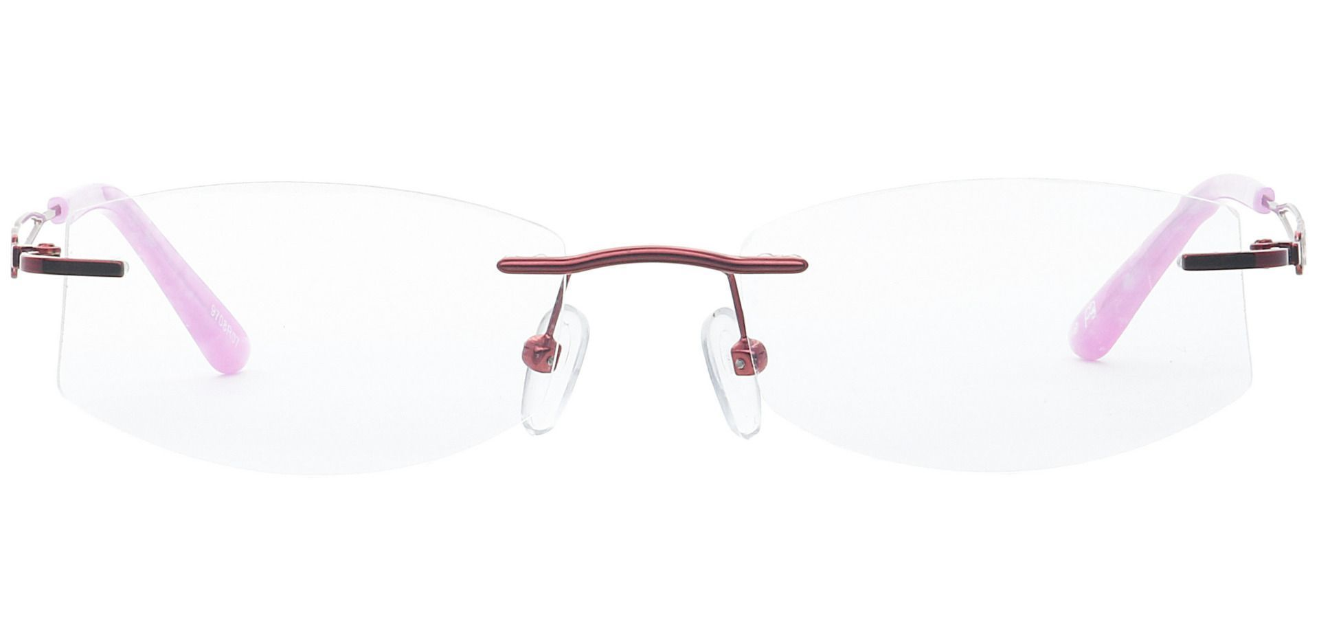Jada Rimless Non-Rx Glasses - Red