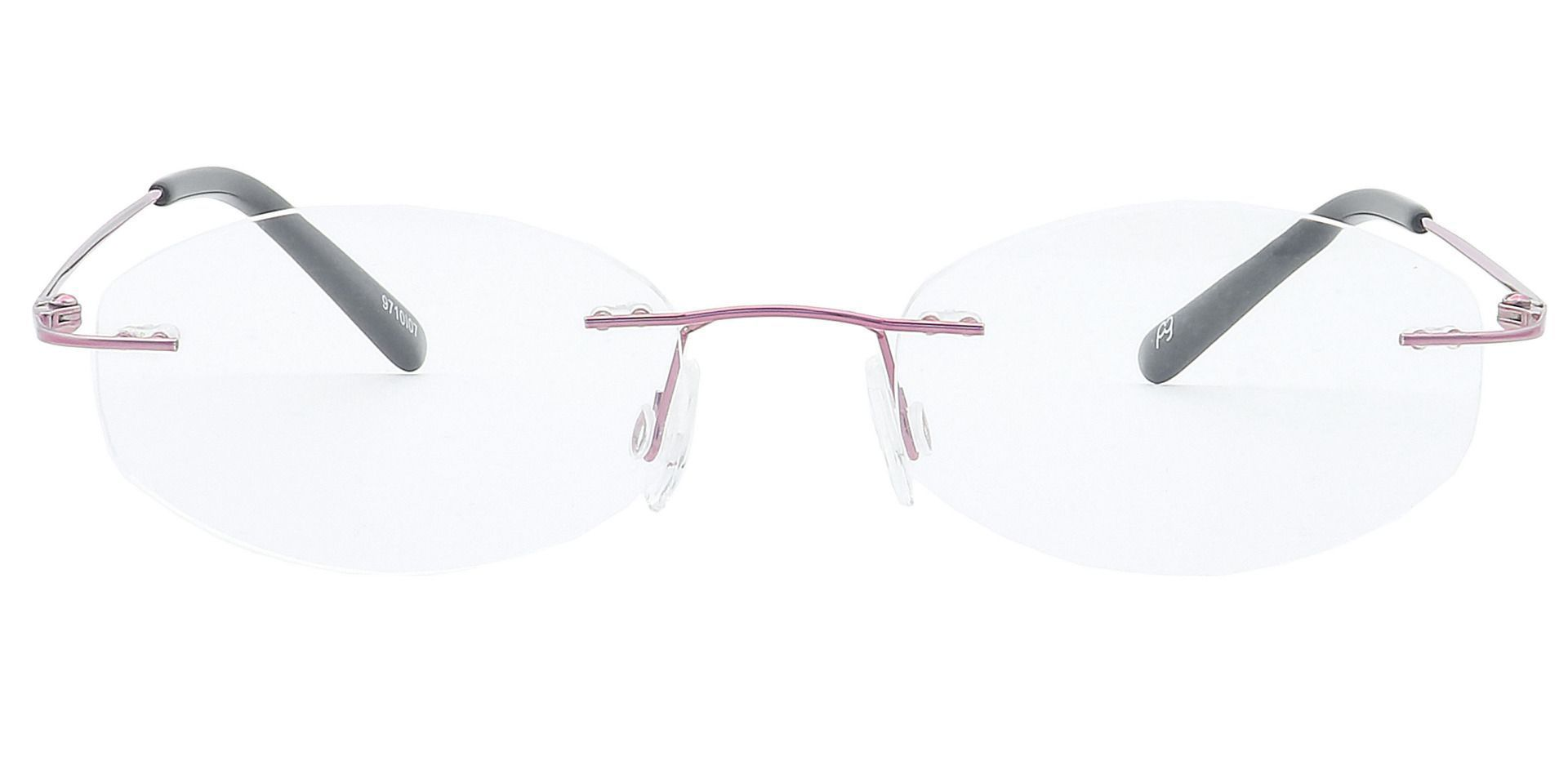 Abigail Rimless Progressive Glasses - Pink