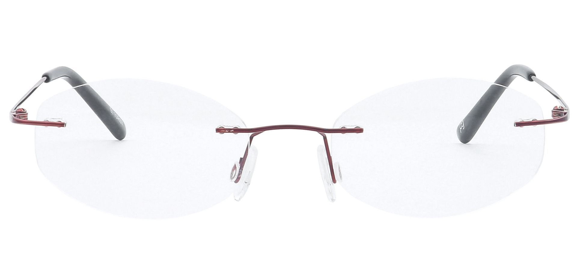 Abigail Rimless Non-Rx Glasses - Red