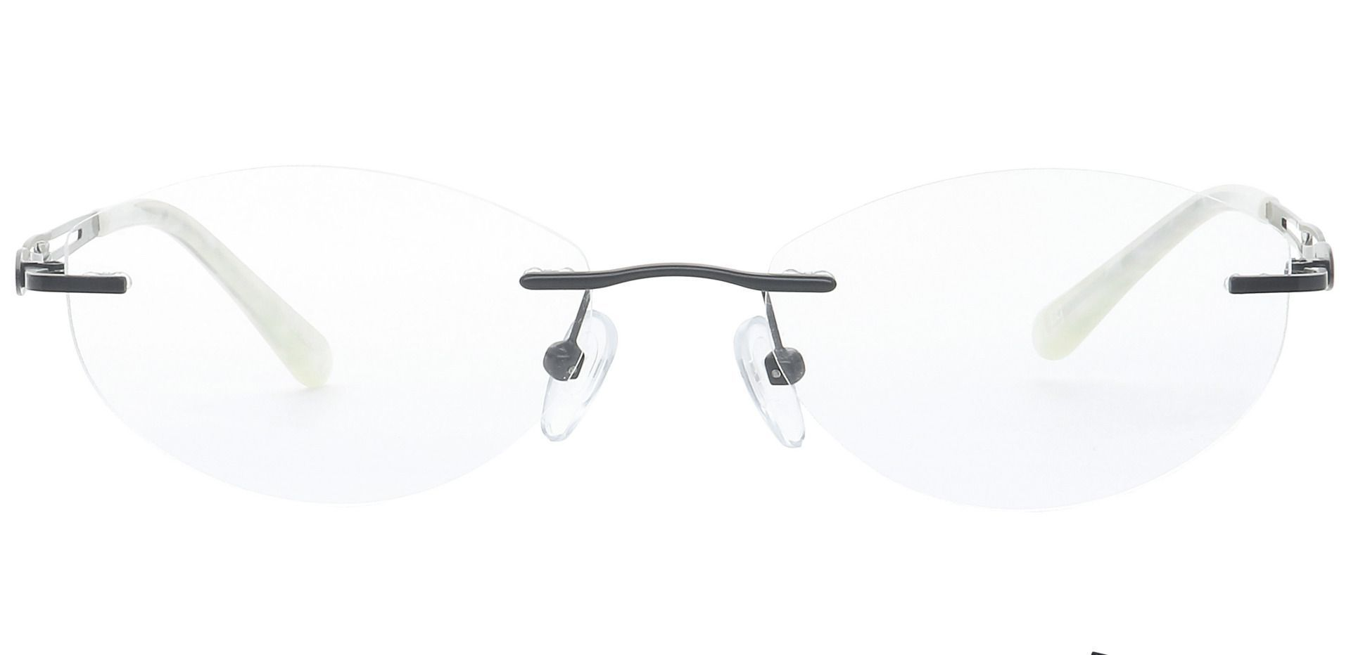 Fairy Rimless Blue Light Blocking Glasses - Black