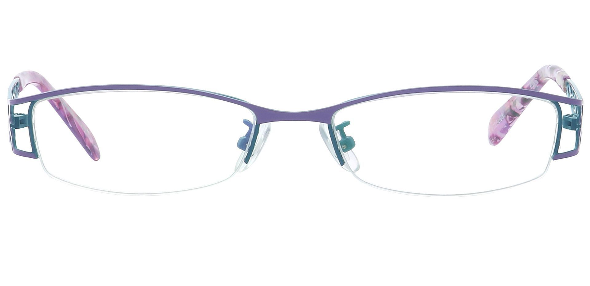 May Rectangle Single Vision Glasses - Blue