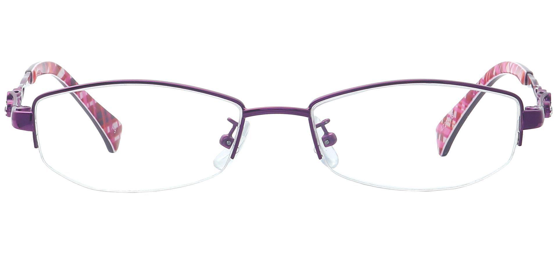 Arden Rectangle Single Vision Glasses - Purple