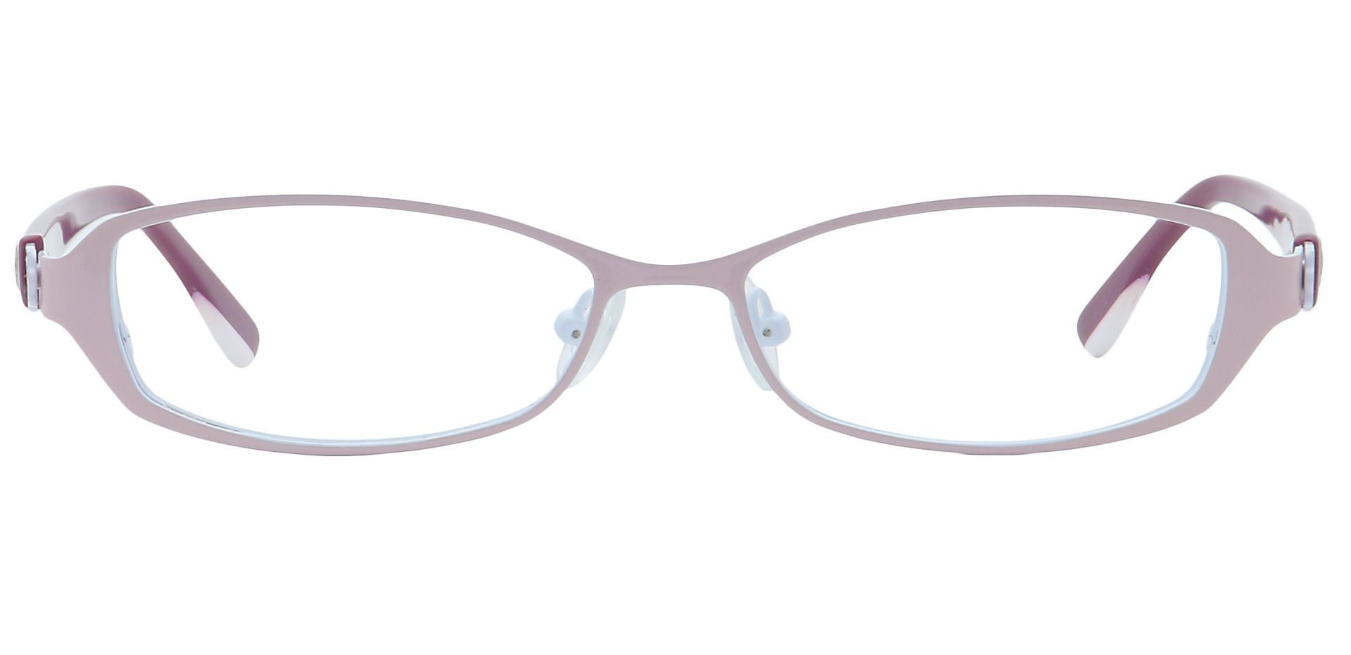 Tanya Oval Non-Rx Glasses - Pink