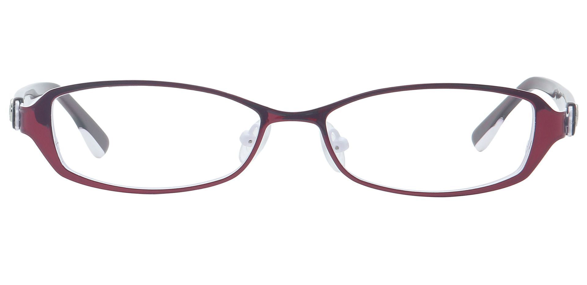 Tanya Oval Non-Rx Glasses - Red