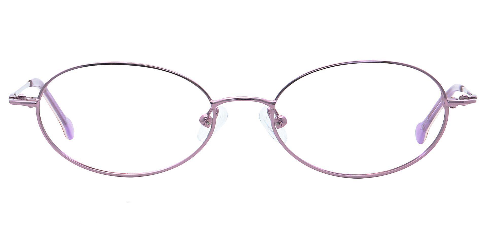 Erika Oval Blue Light Blocking Glasses - Pink