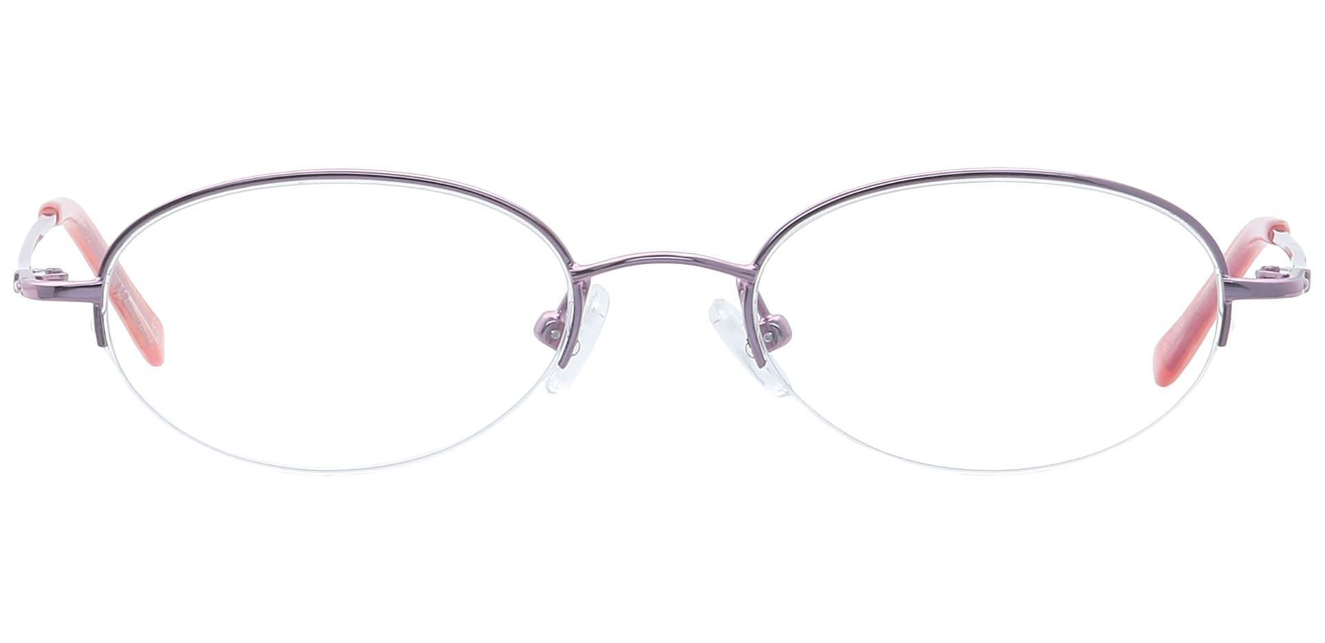Nicole Oval Blue Light Blocking Glasses - Pink