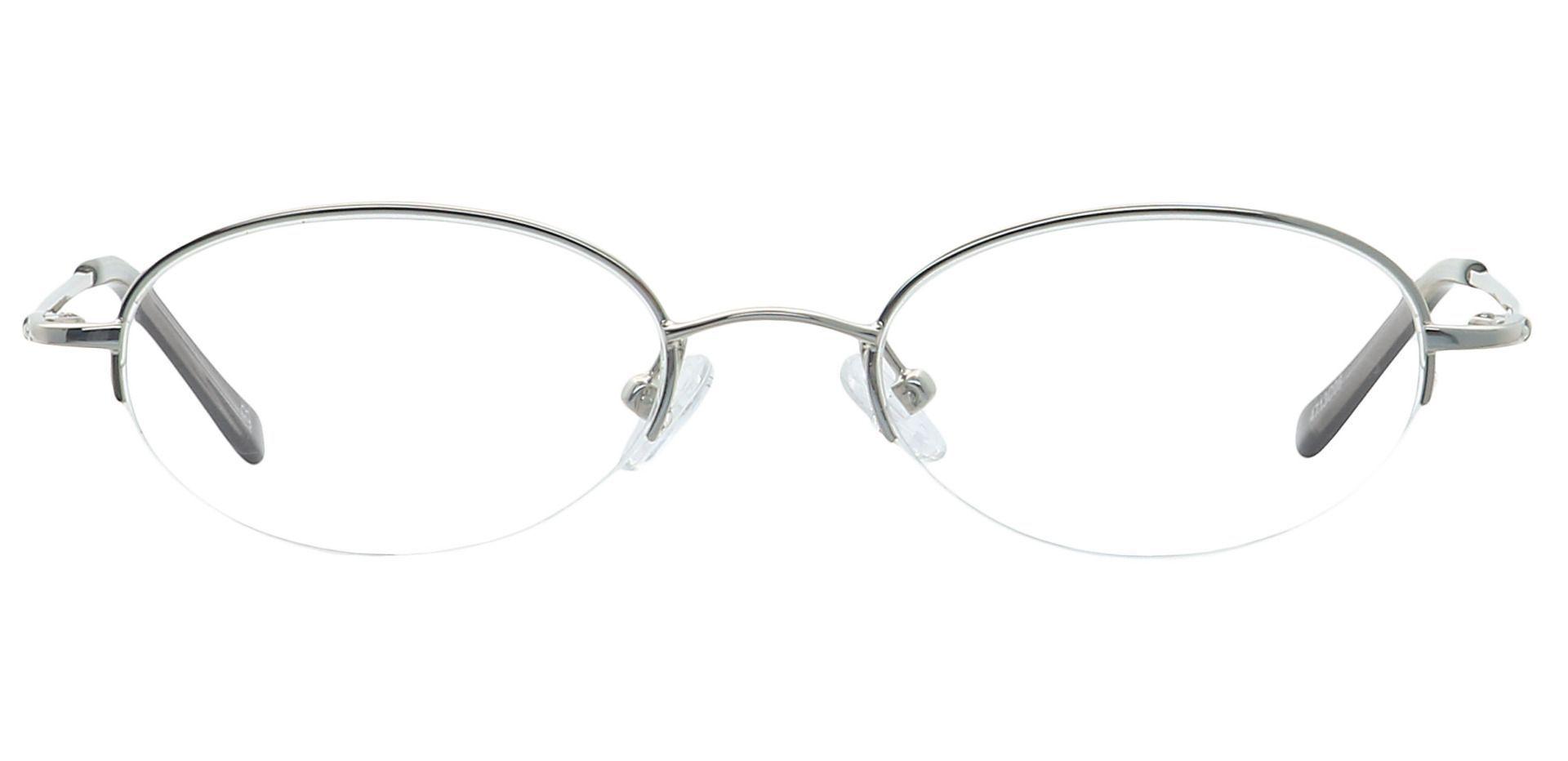 Nicole Oval Blue Light Blocking Glasses - Clear