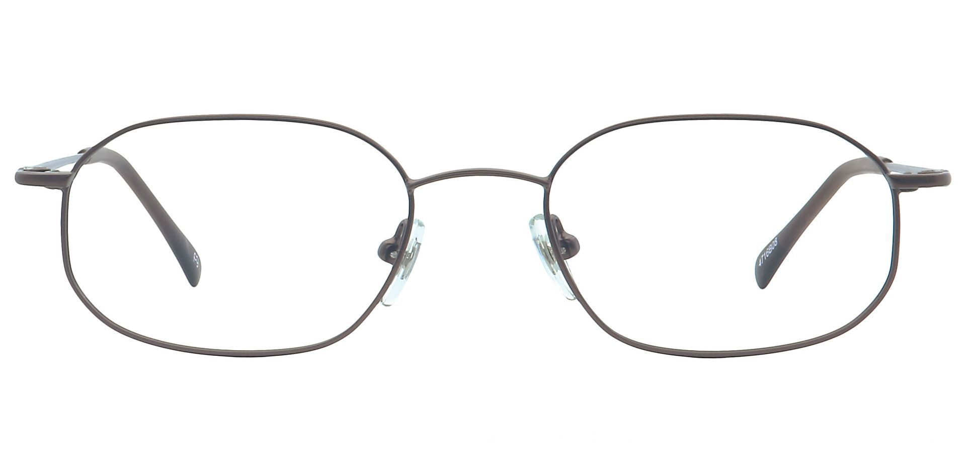 Parker Oval Blue Light Blocking Glasses - Brown
