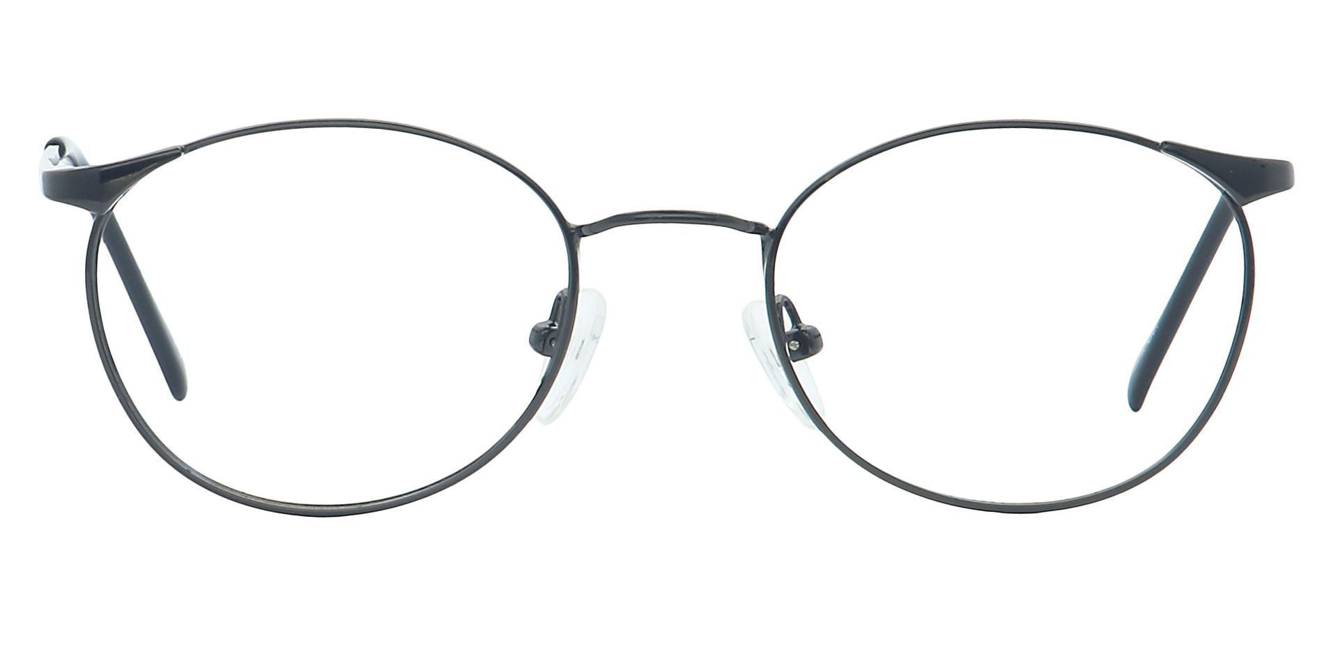 Collen Round Non-Rx Glasses - Gray