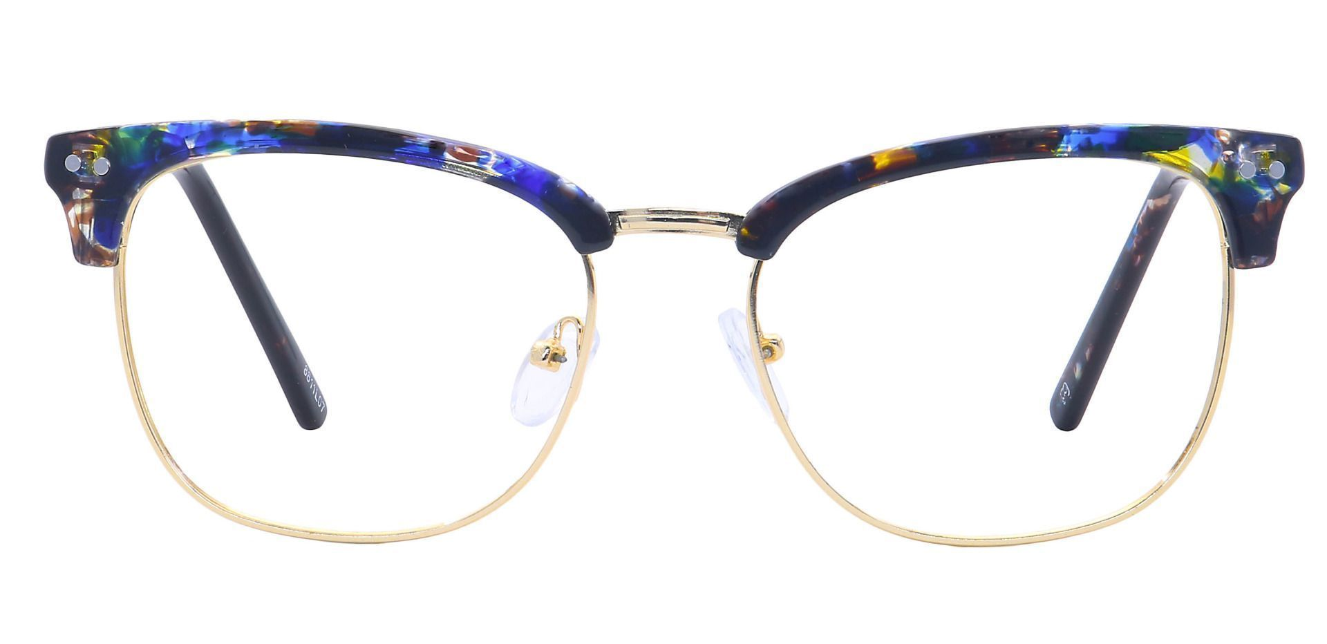 Ceran Browline Eyeglasses Frame - Leopard