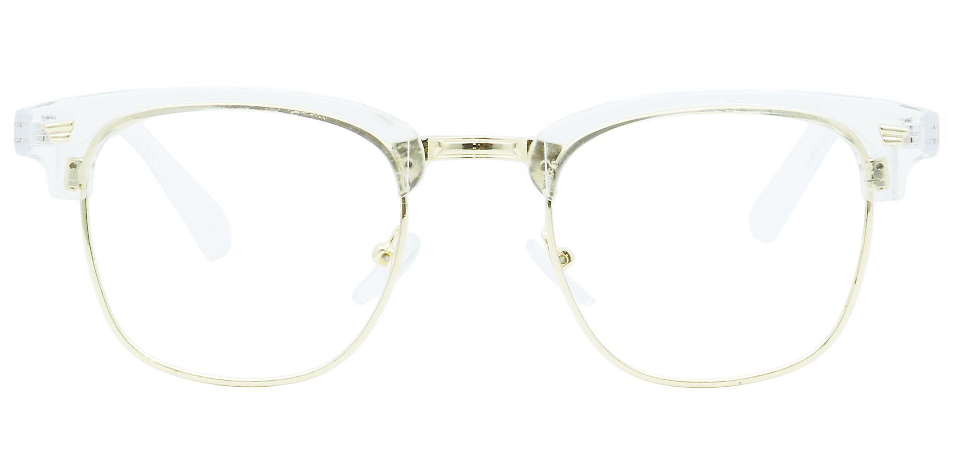 Ella Browline Prescription Glasses - Clear
