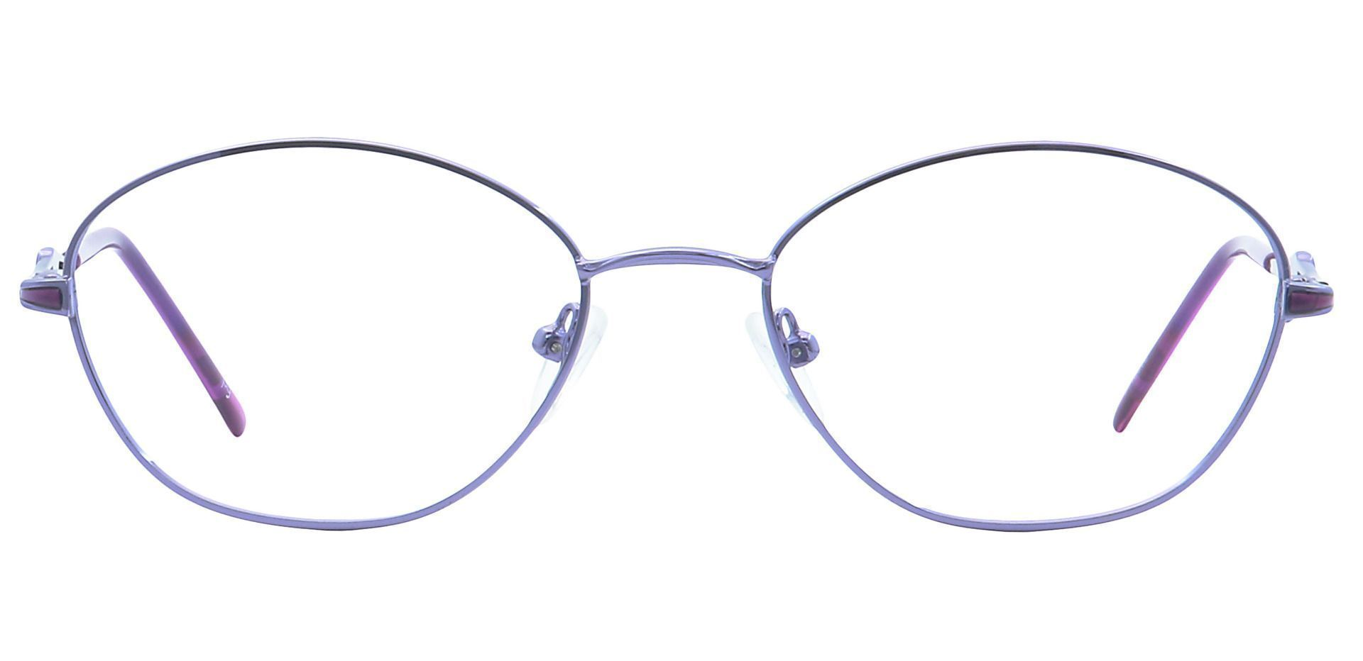 Emily Round Blue Light Blocking Glasses - Clear
