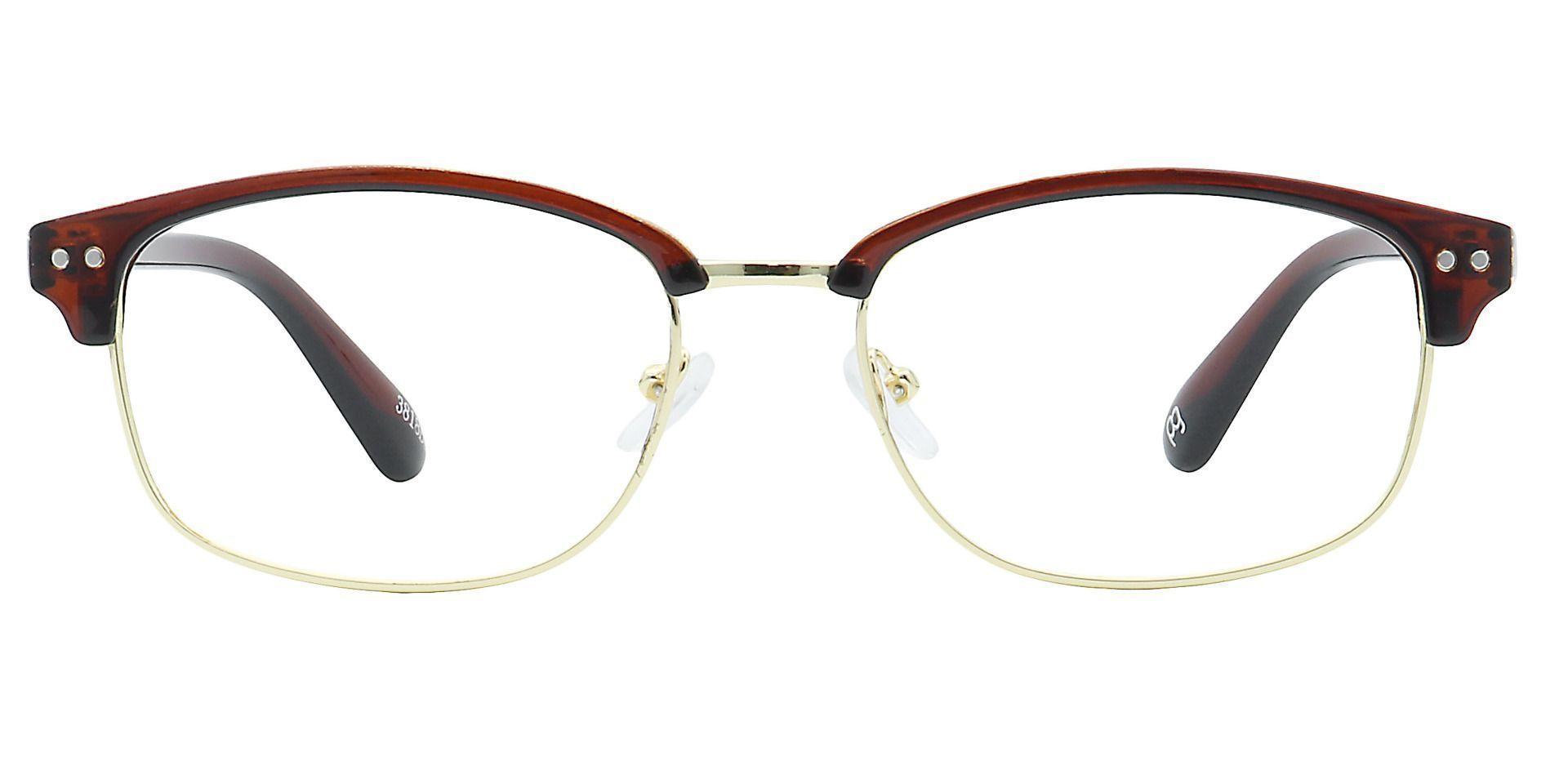 Kendrick Browline Blue Light Blocking Glasses - Brown