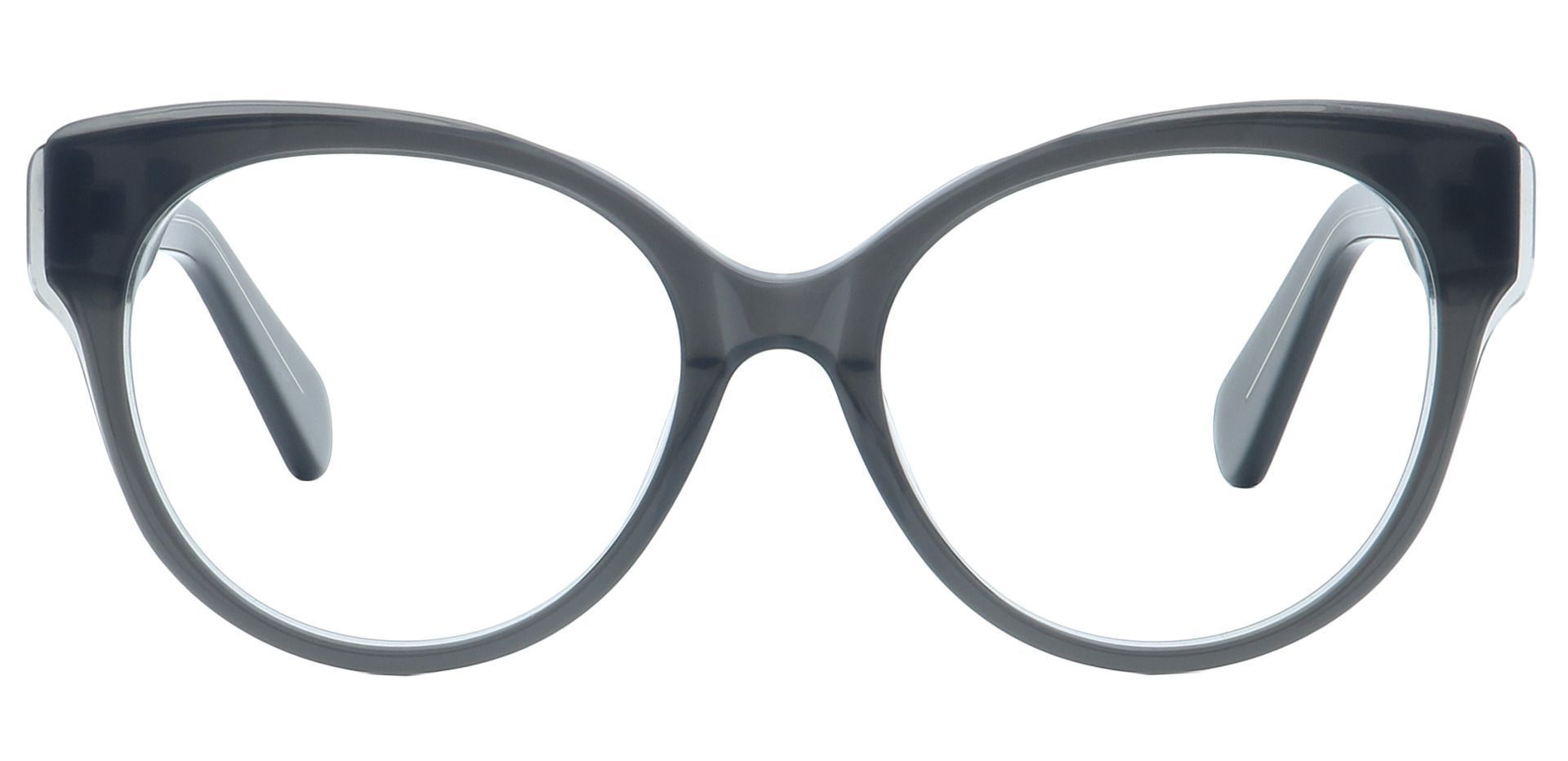 DJ Oval Eyeglasses Frame - Gray