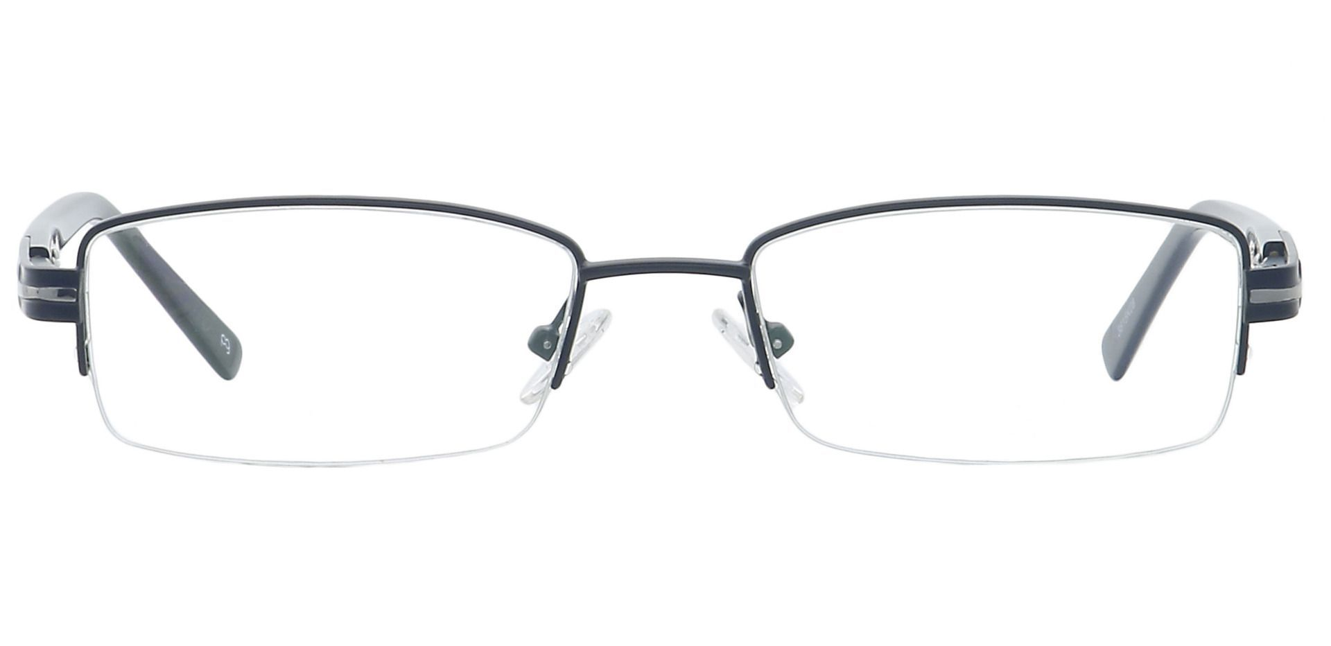 Reed Rectangle Blue Light Blocking Glasses - Black
