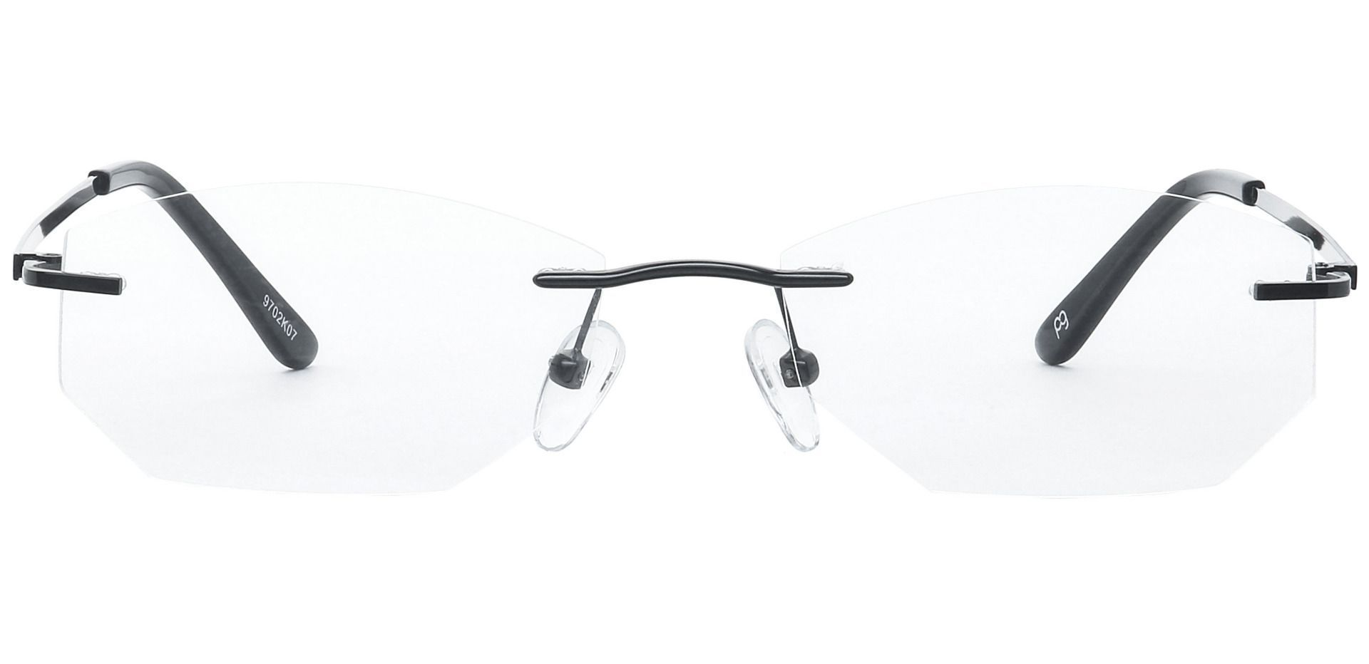 Raul Rimless Blue Light Blocking Glasses - Black