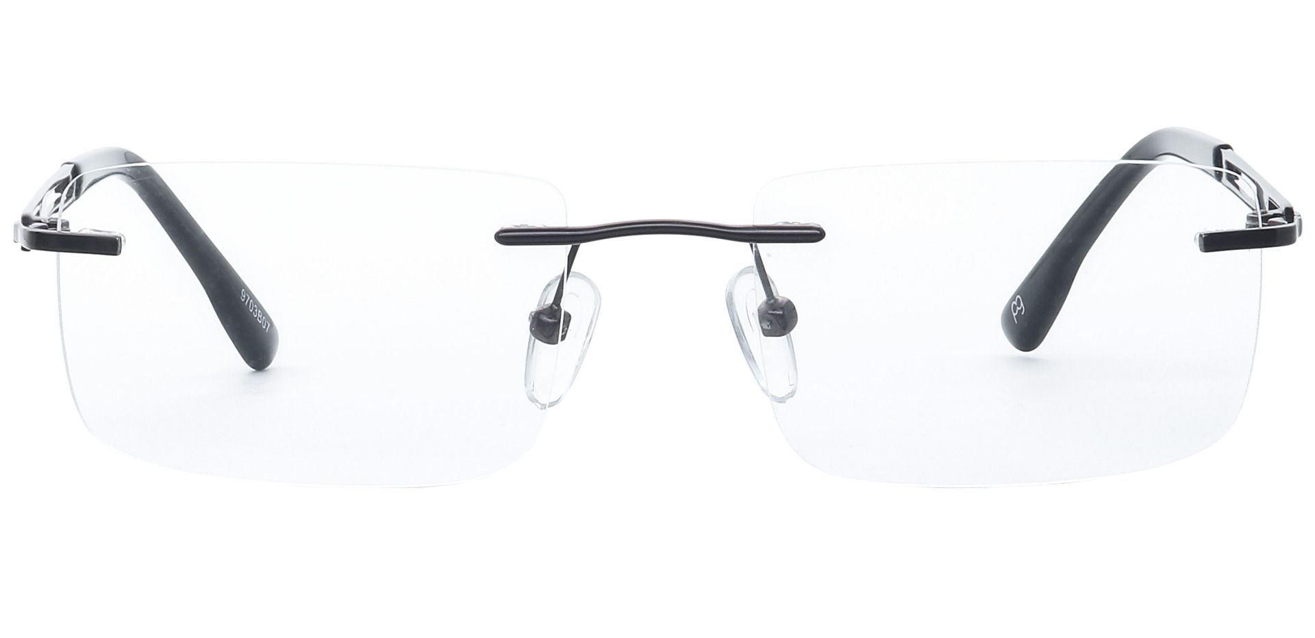 Ricky Rimless Blue Light Blocking Glasses - Brown