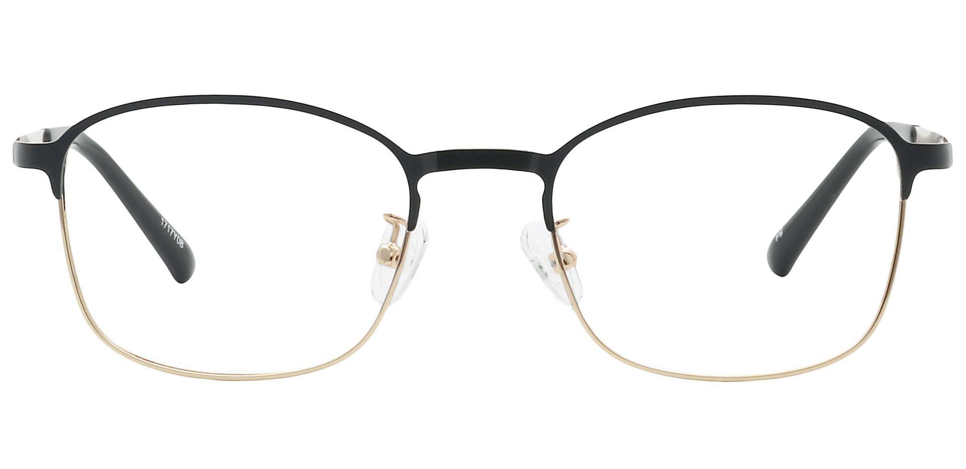 Carmen Square Blue Light Blocking Glasses - Gold