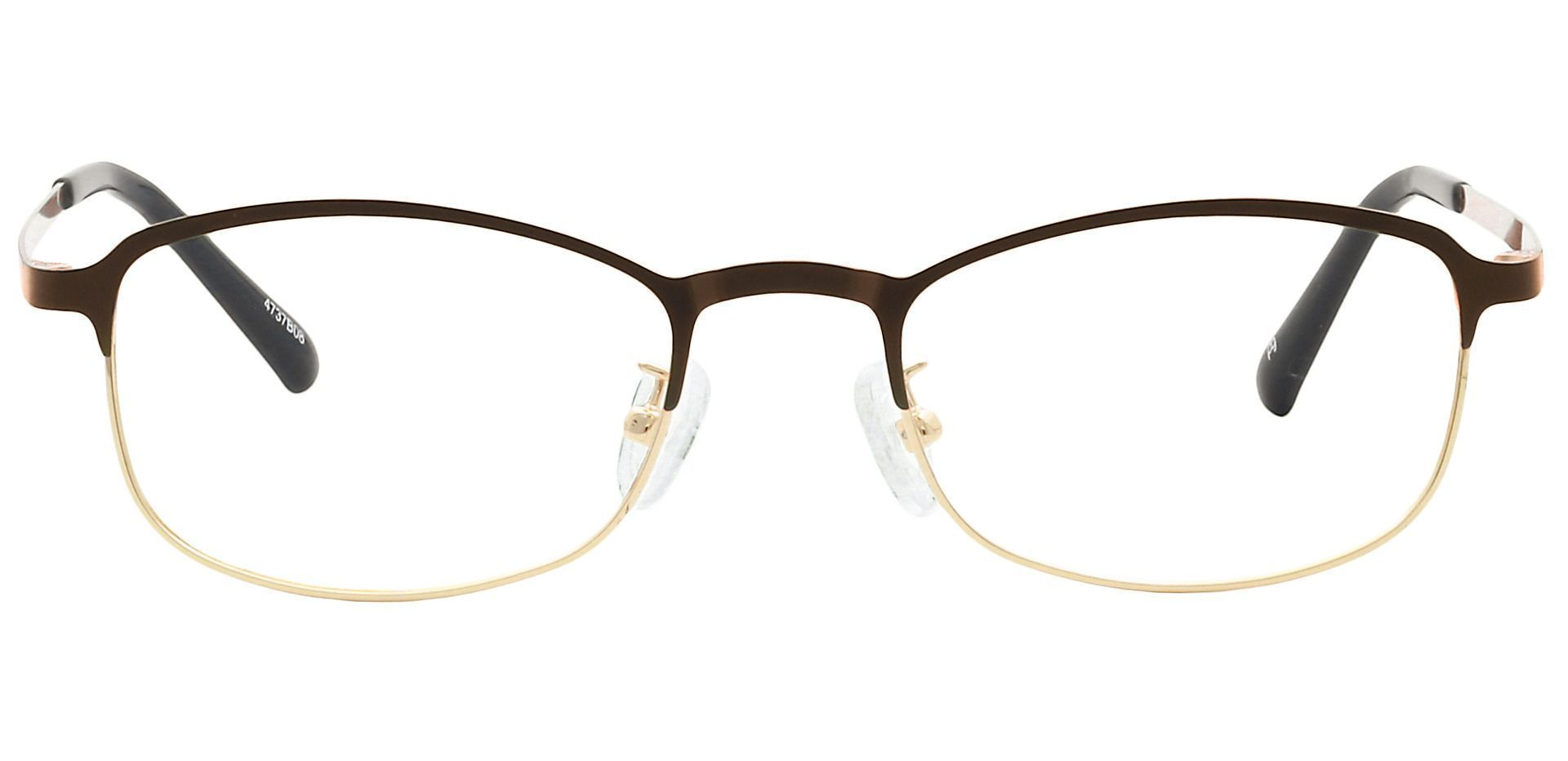 Tyrell Oval Lined Bifocal Glasses - Brown