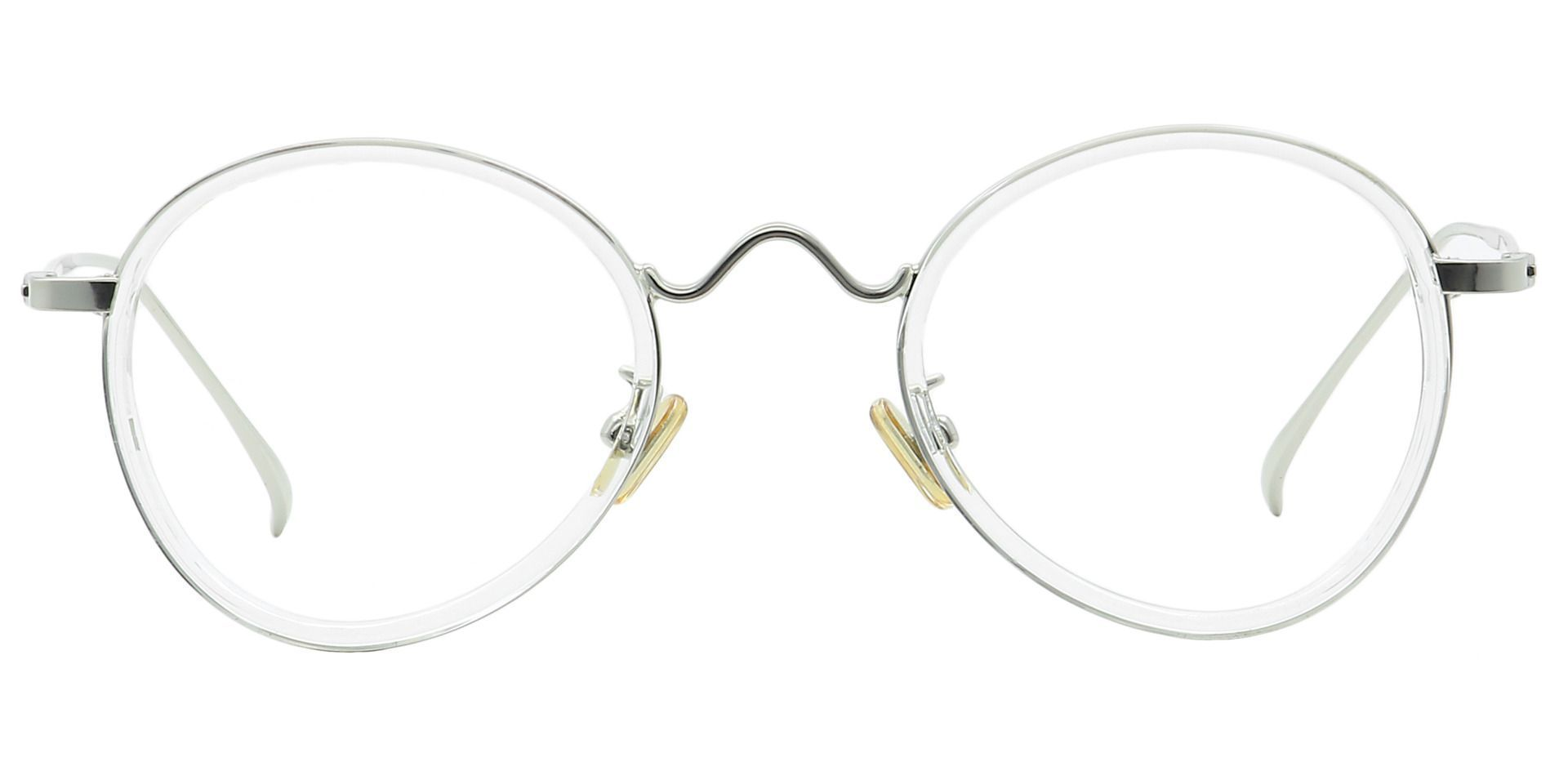 Emery Oval Lined Bifocal Glasses - Clear
