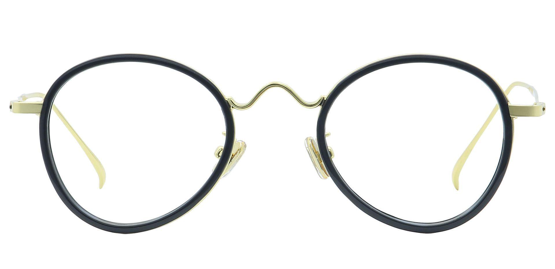 Emery Oval Prescription Glasses - Black