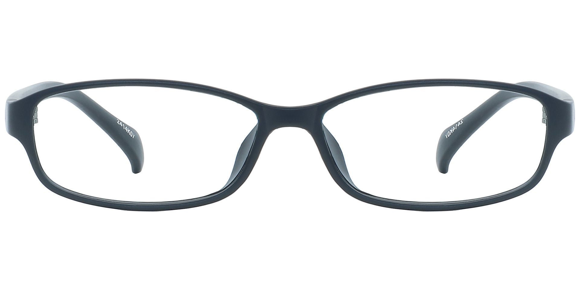 Pat Rectangle Blue Light Blocking Glasses - Black