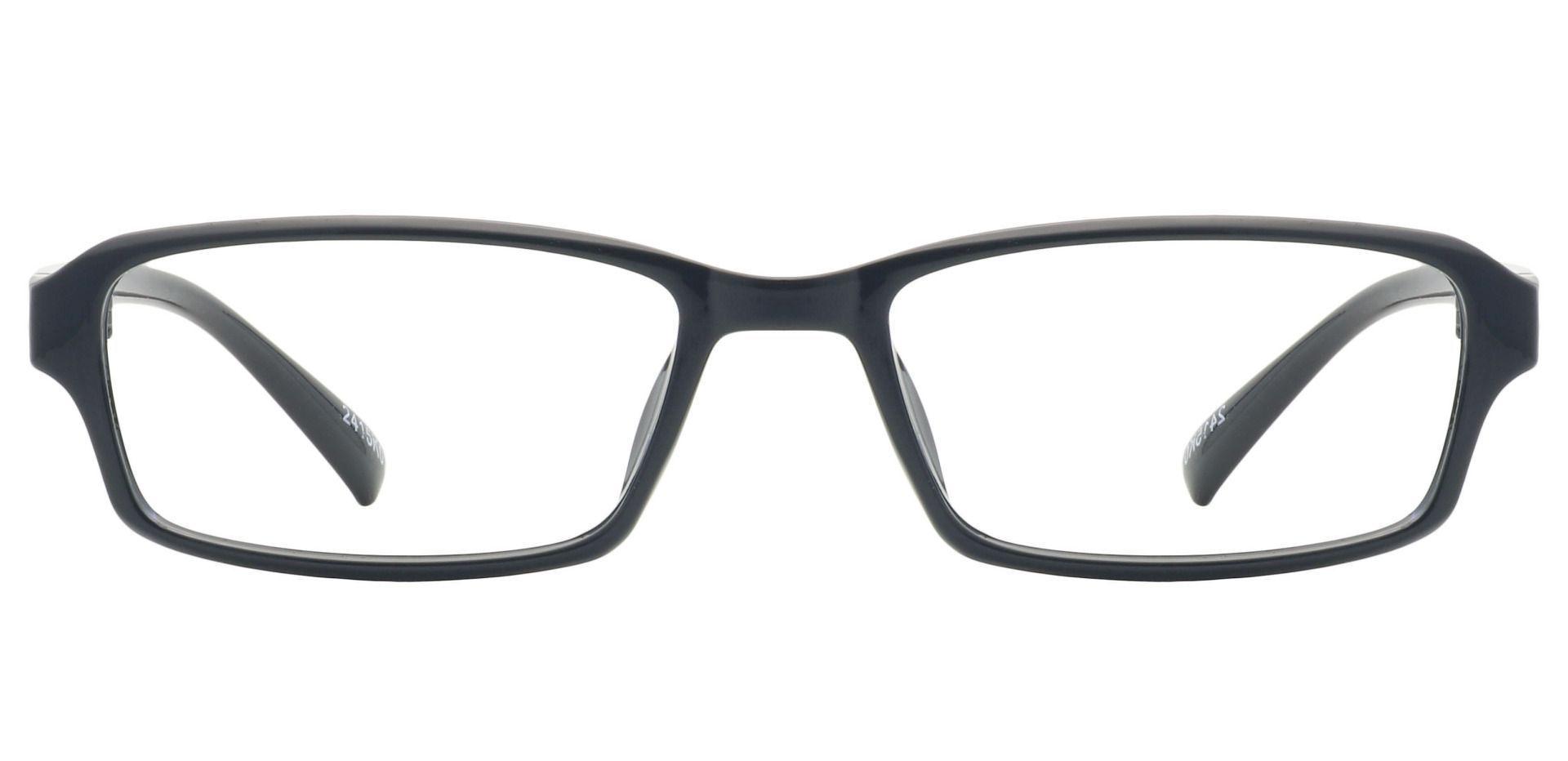 Delaney Rectangle Eyeglasses Frame - Black