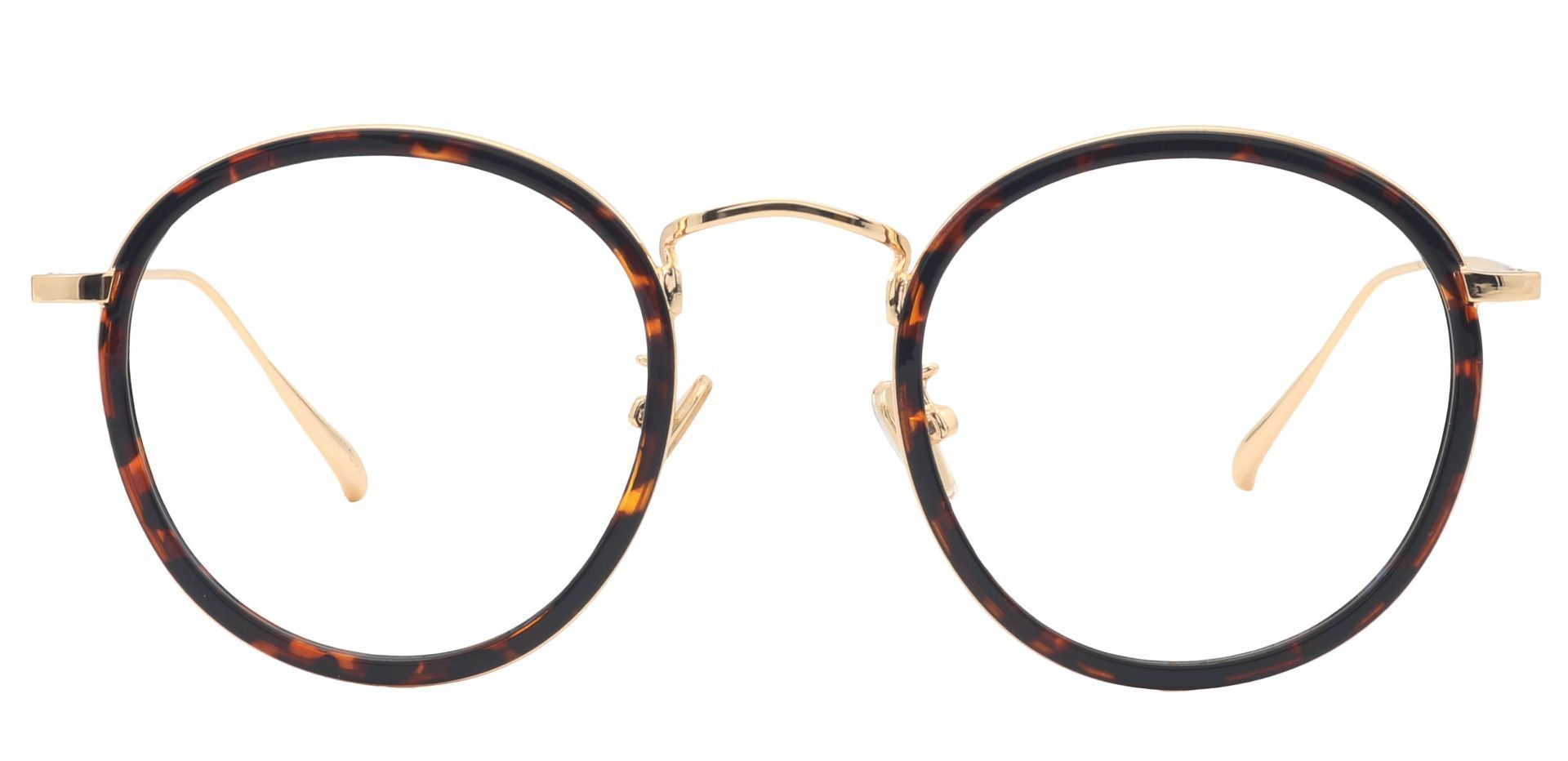 Croatia Round Blue Light Blocking Glasses - Leopard